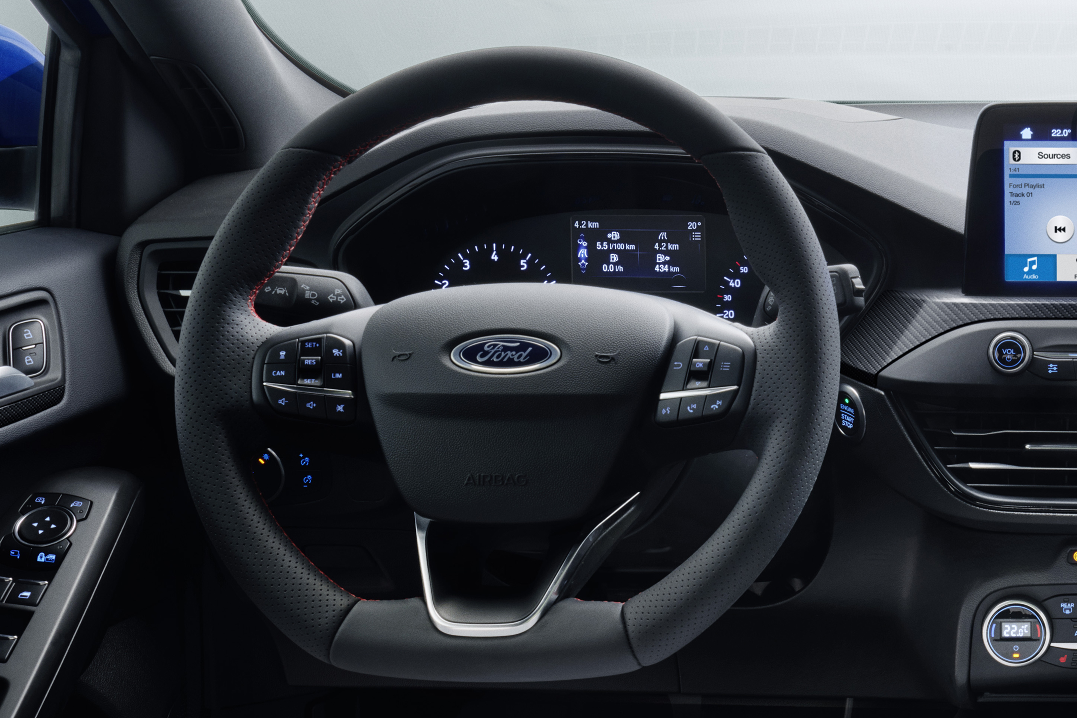 Ford Focus ST-Line - 2018 - steering wheel / volant