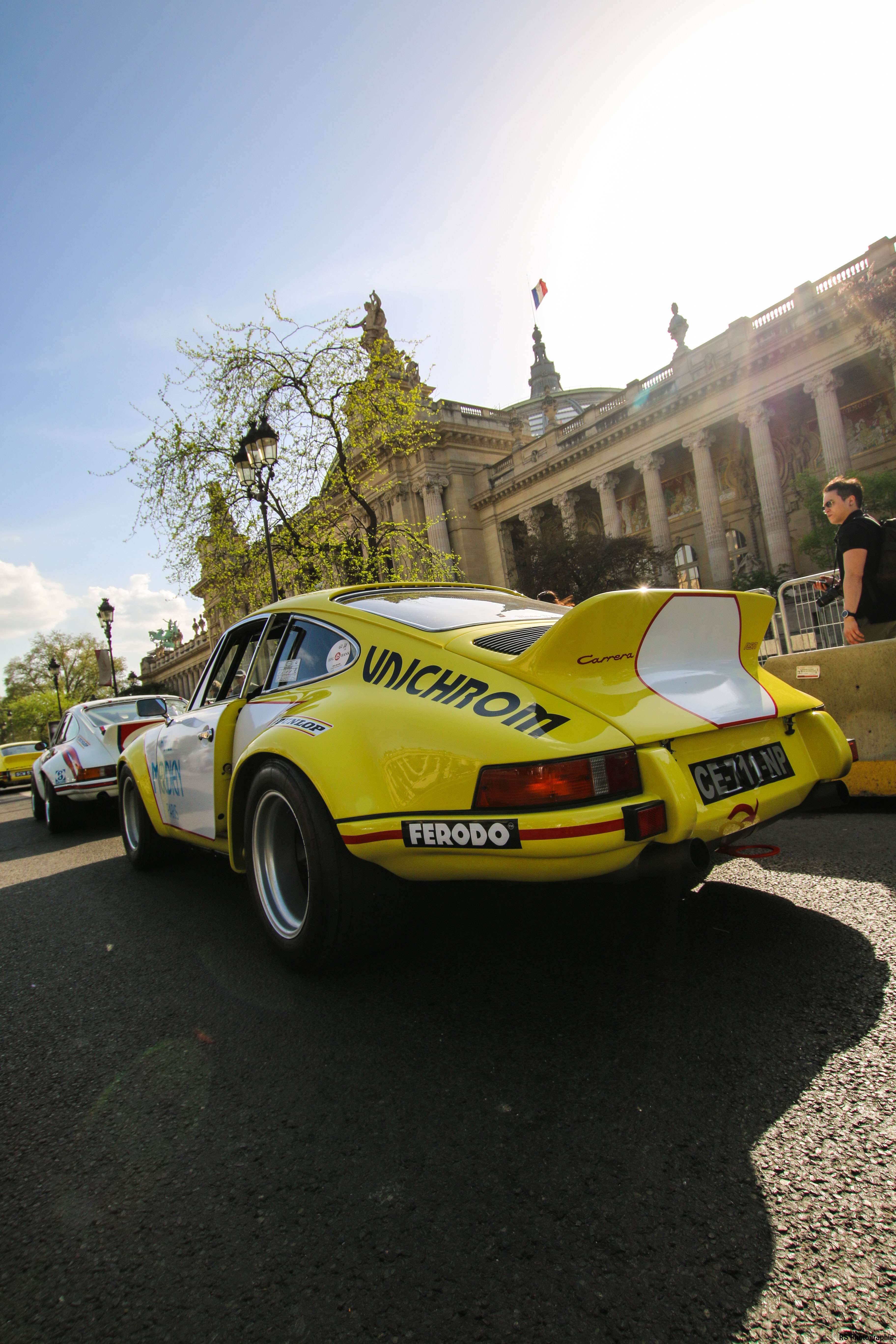 Porsche 911 Carrera RSR 2.8L livery Meridien Unichrom - rear - 1973 - Paris - Tour Auto - 2018 – photo by Arnaud Demasier RS Photographie