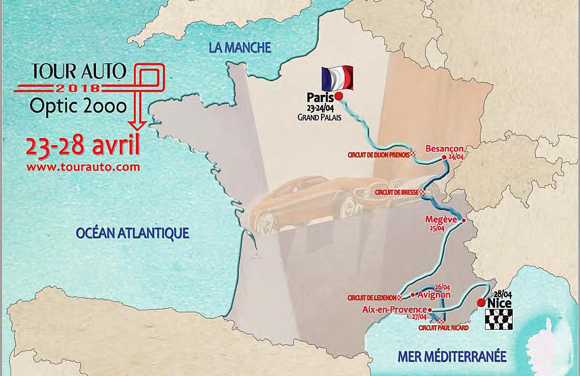 Tour Auto 2018 - carte