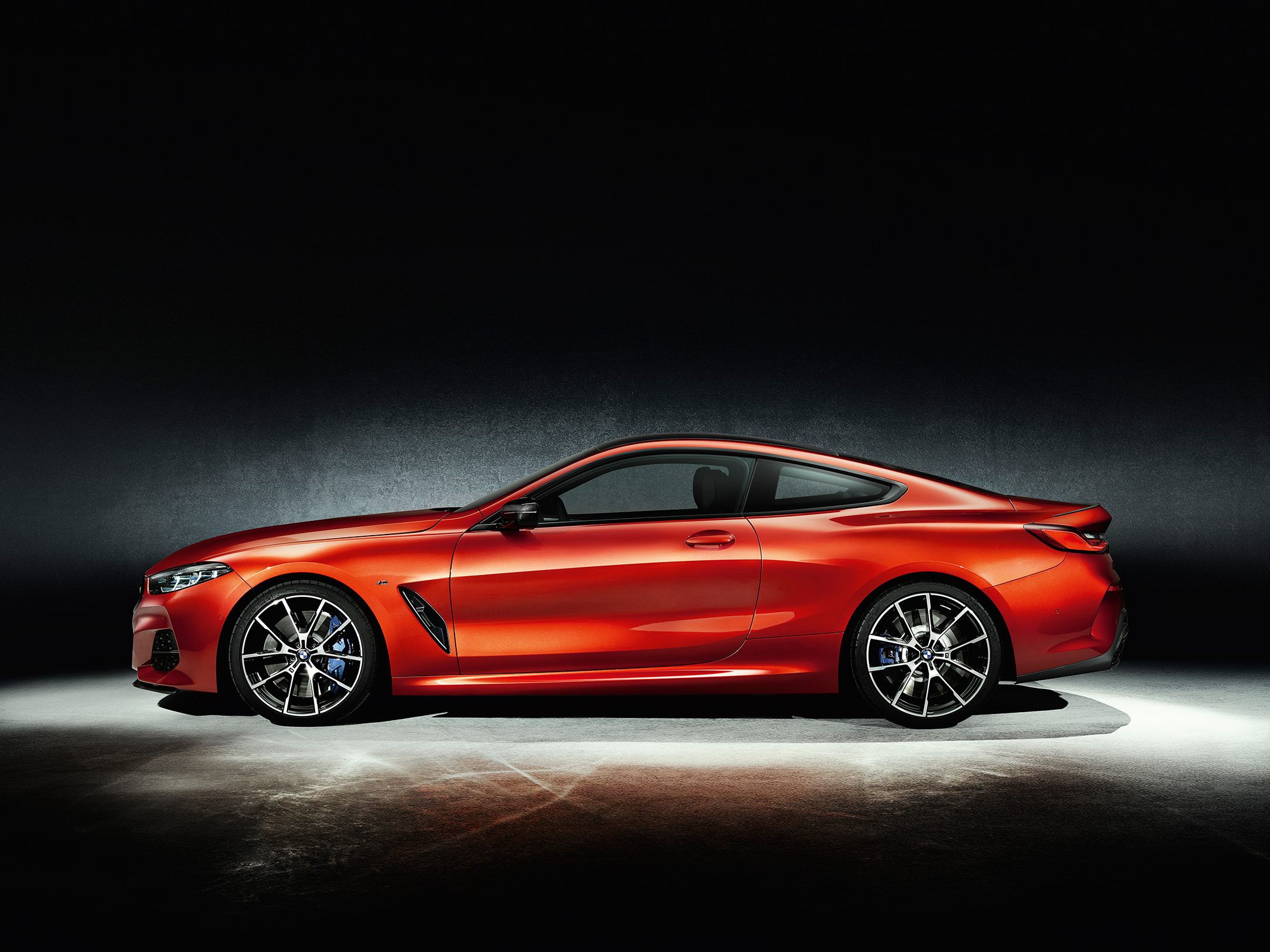 BMW 8 Series Coupe - 2018 - side-face / profil
