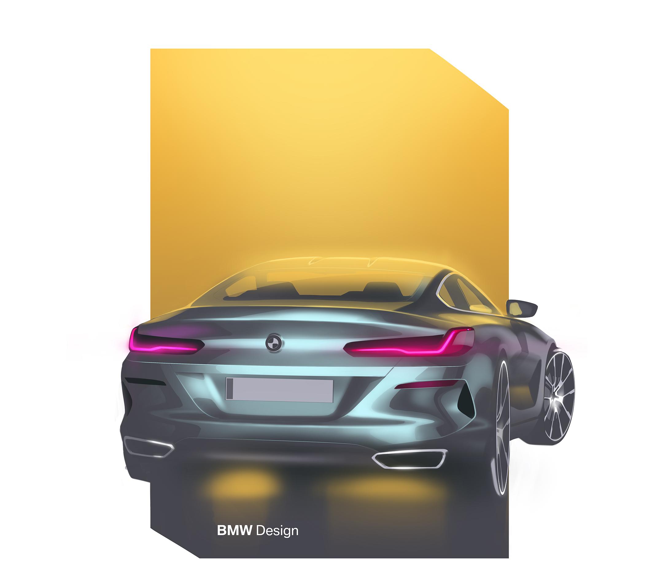 BMW 8 Series Coupe - 2018 - sketch - rear / arrière