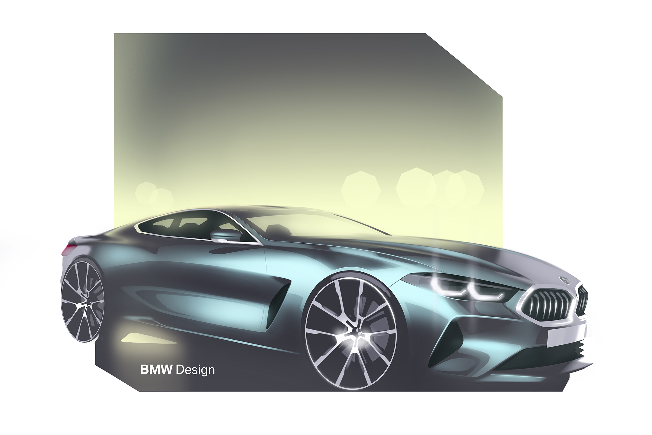 BMW 8 Series Coupe - 2018 - sketch - front side-face / profil avant