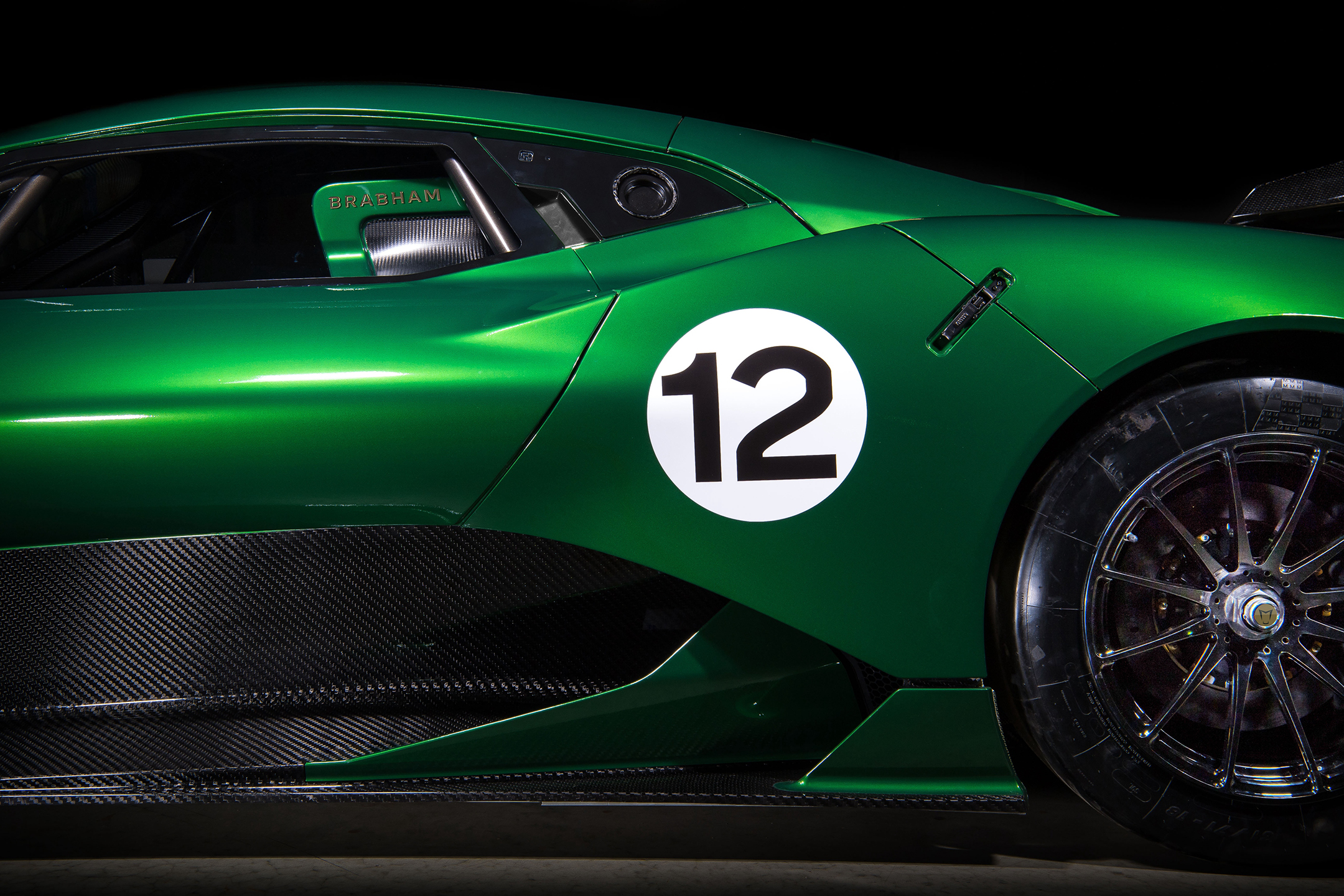 Brabham BT62 - 2018 - side-face / profil - zoom
