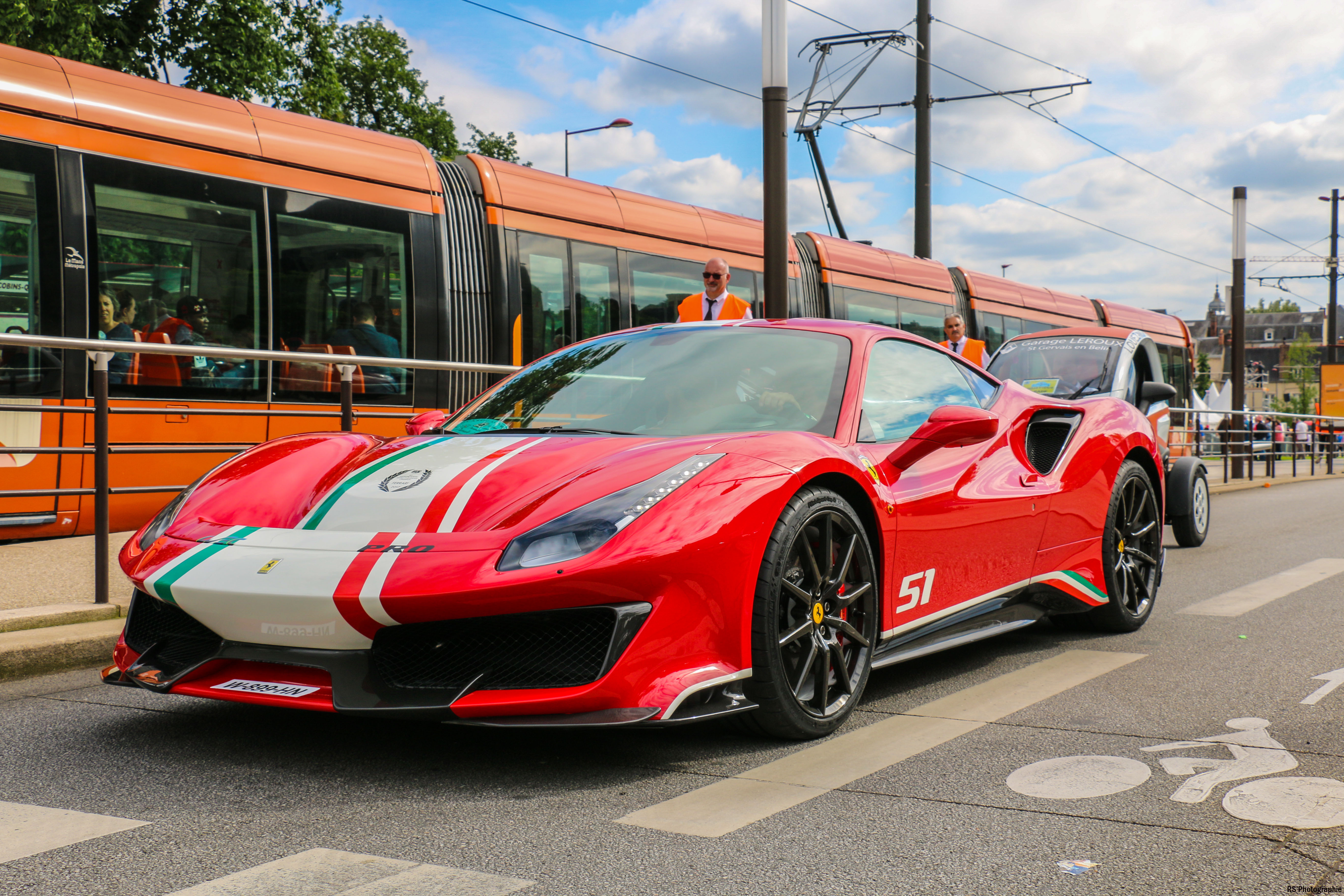 Ferrari 488 Pista Piloti Ferrari - front road - Le Mans 24h - 2018 - Arnaud Demasier RS Photographie