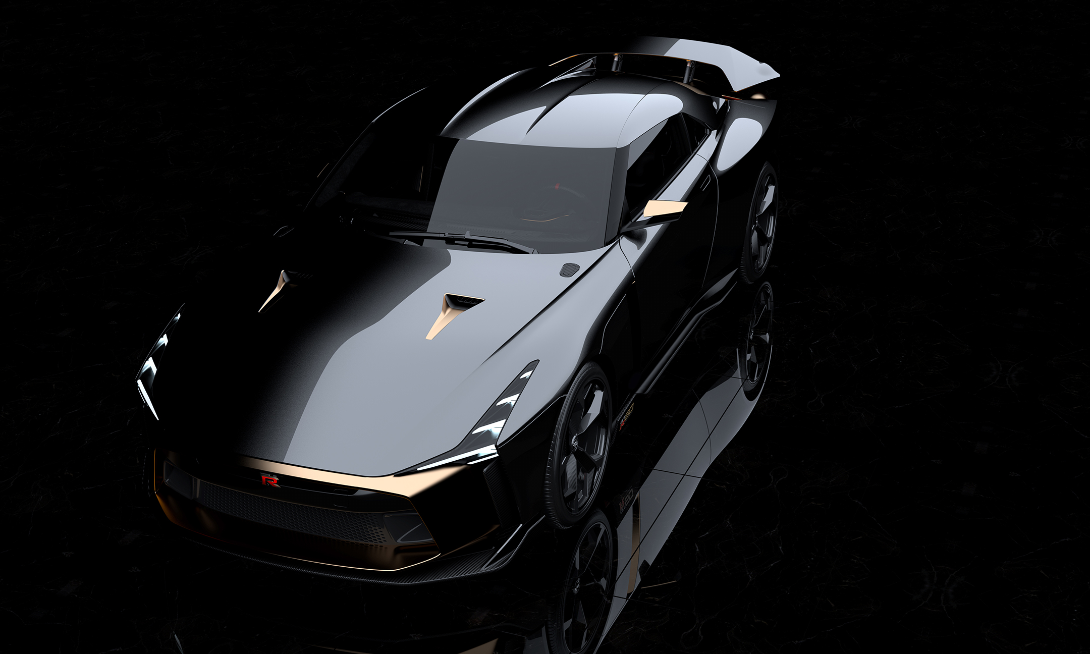 Nissan GT-R50 by Italdesign - 2018 - top - front side-face / profil avant