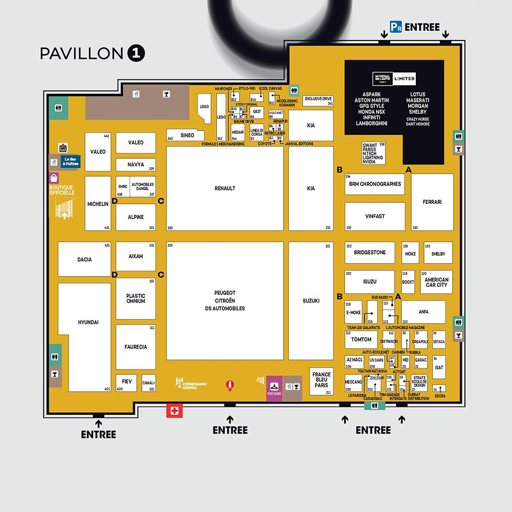 mondial paris 2018 programme planning plan mondial auto moto. Black Bedroom Furniture Sets. Home Design Ideas