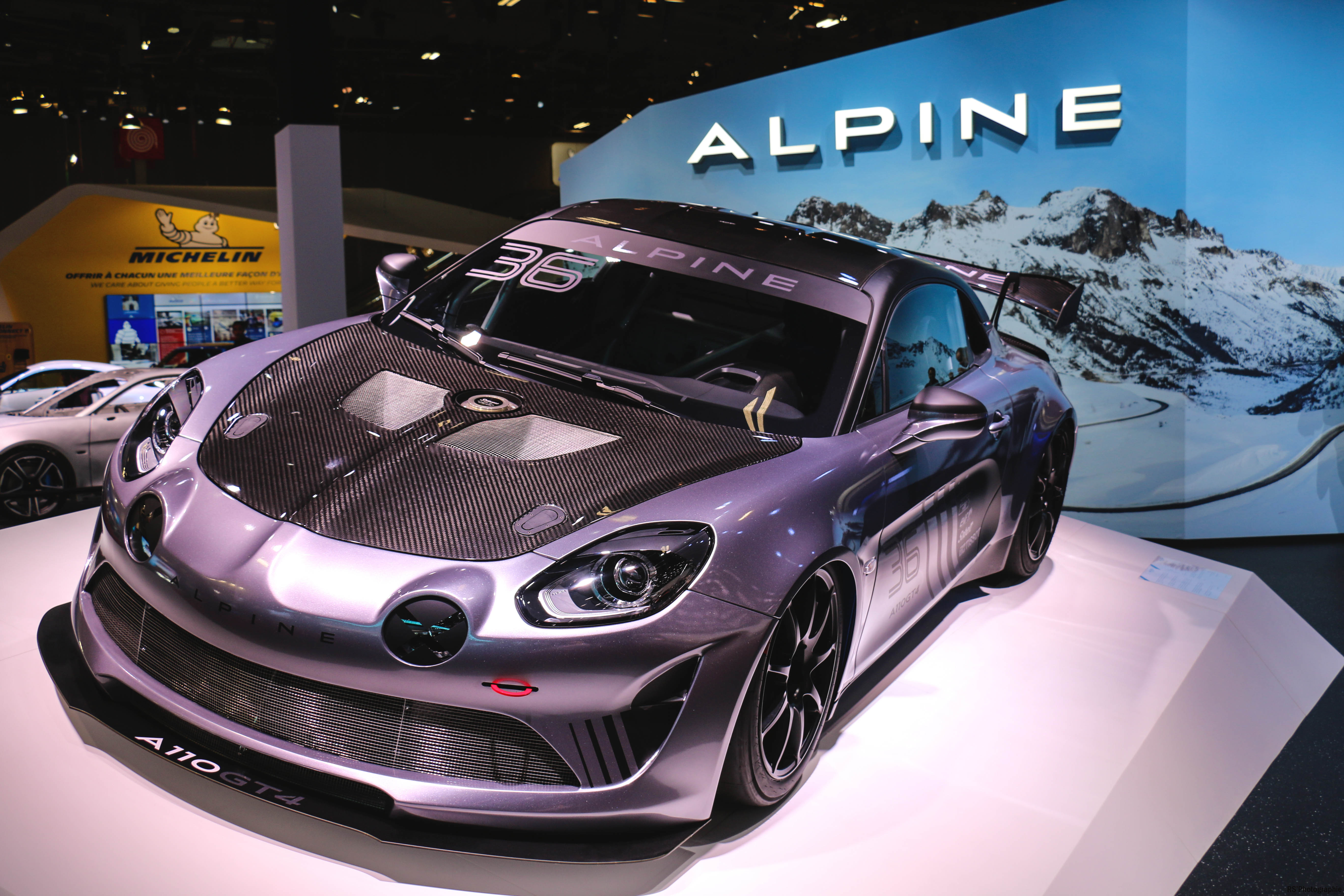 Alpine A110 GT4 - Paris Motor Show - 2018 - Mondial Auto - photo by Arnaud Demasier RS Photographie