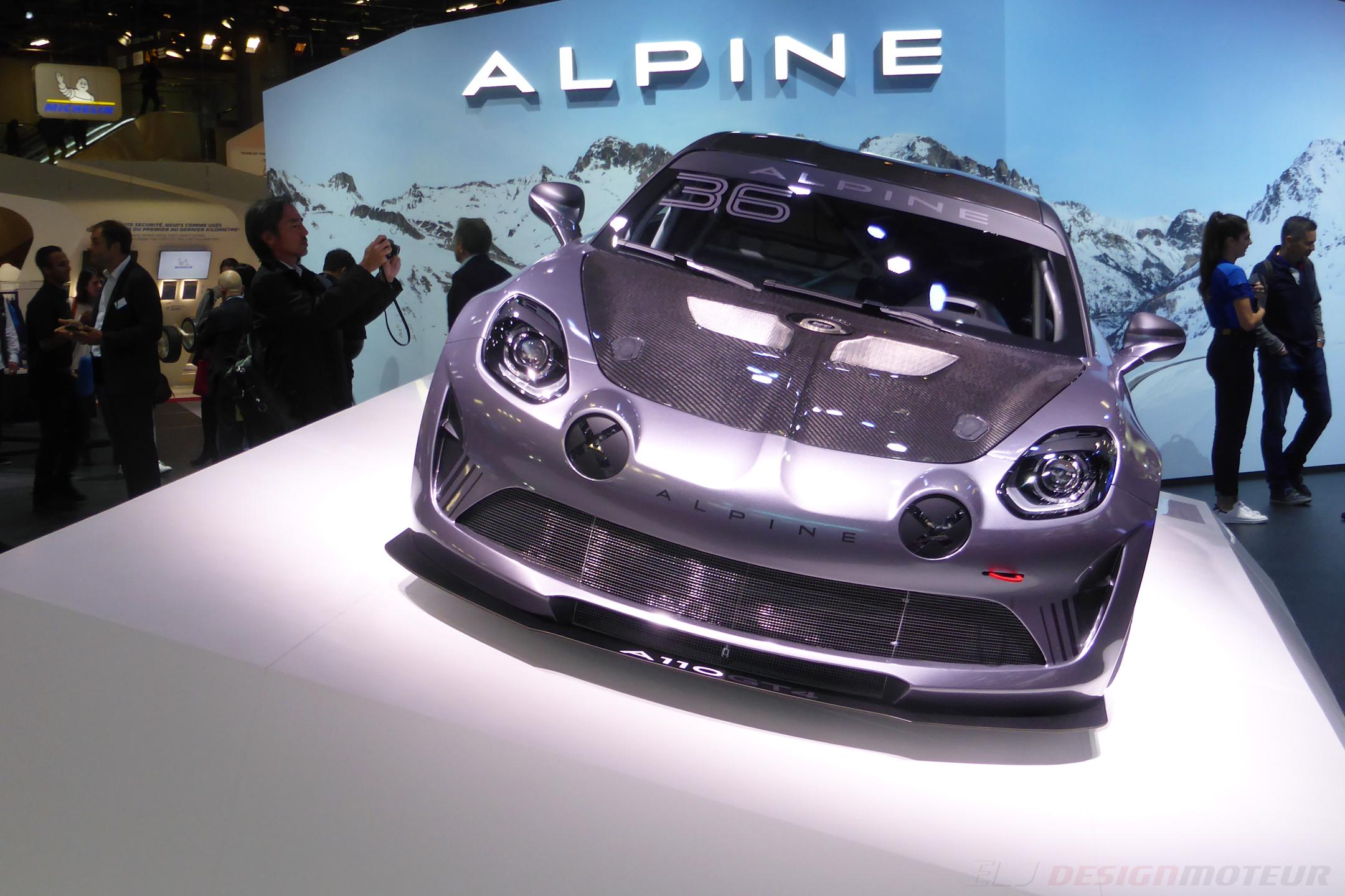 Alpine A110 GT4 - front face - Paris Motor Show - 2018 - Mondial Auto - photo ELJ DESIGNMOTEUR