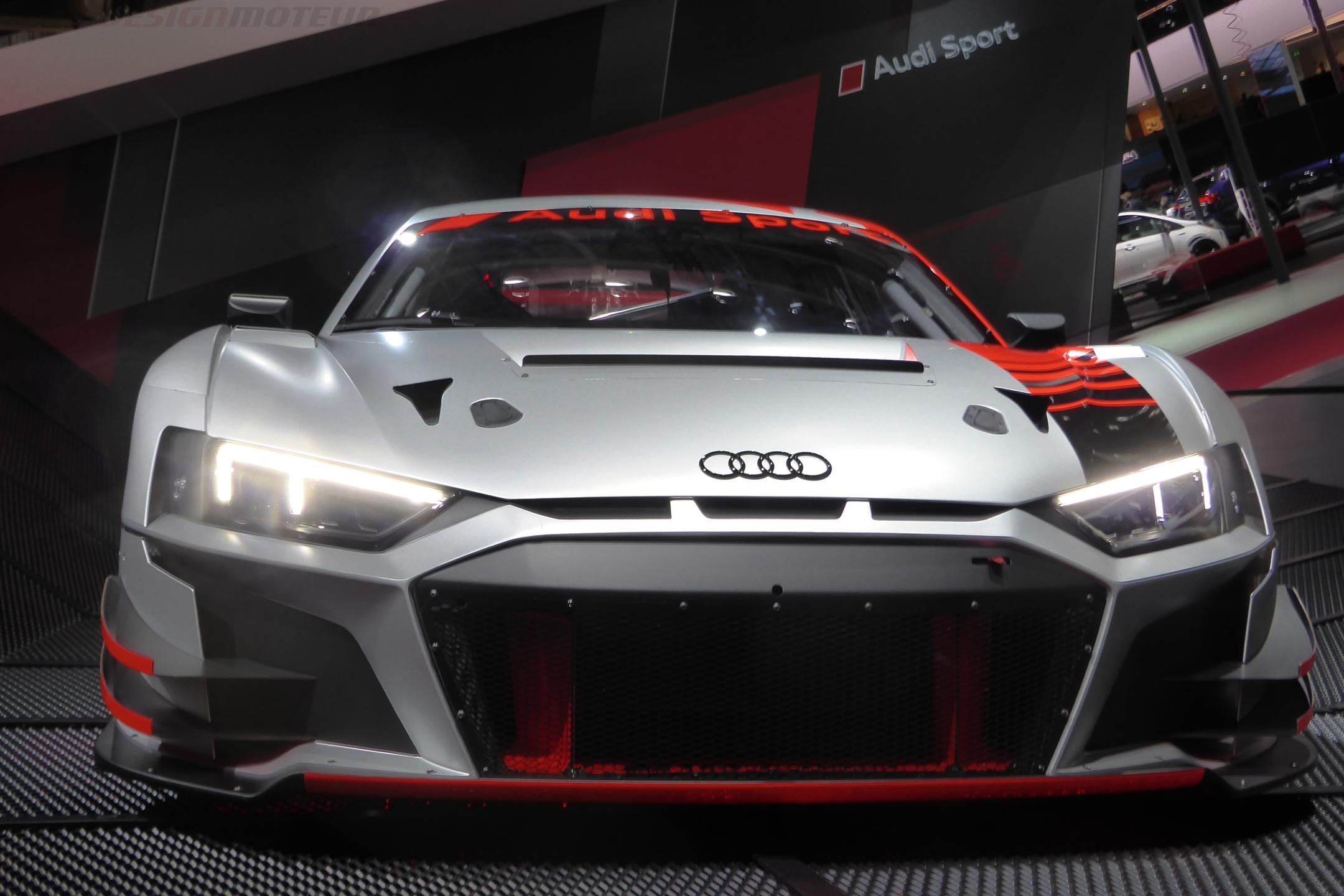 Audi Sport R8 LMS - front face - Paris Motor Show - 2018 - Mondial Auto - photo ELJ DESIGNMOTEUR