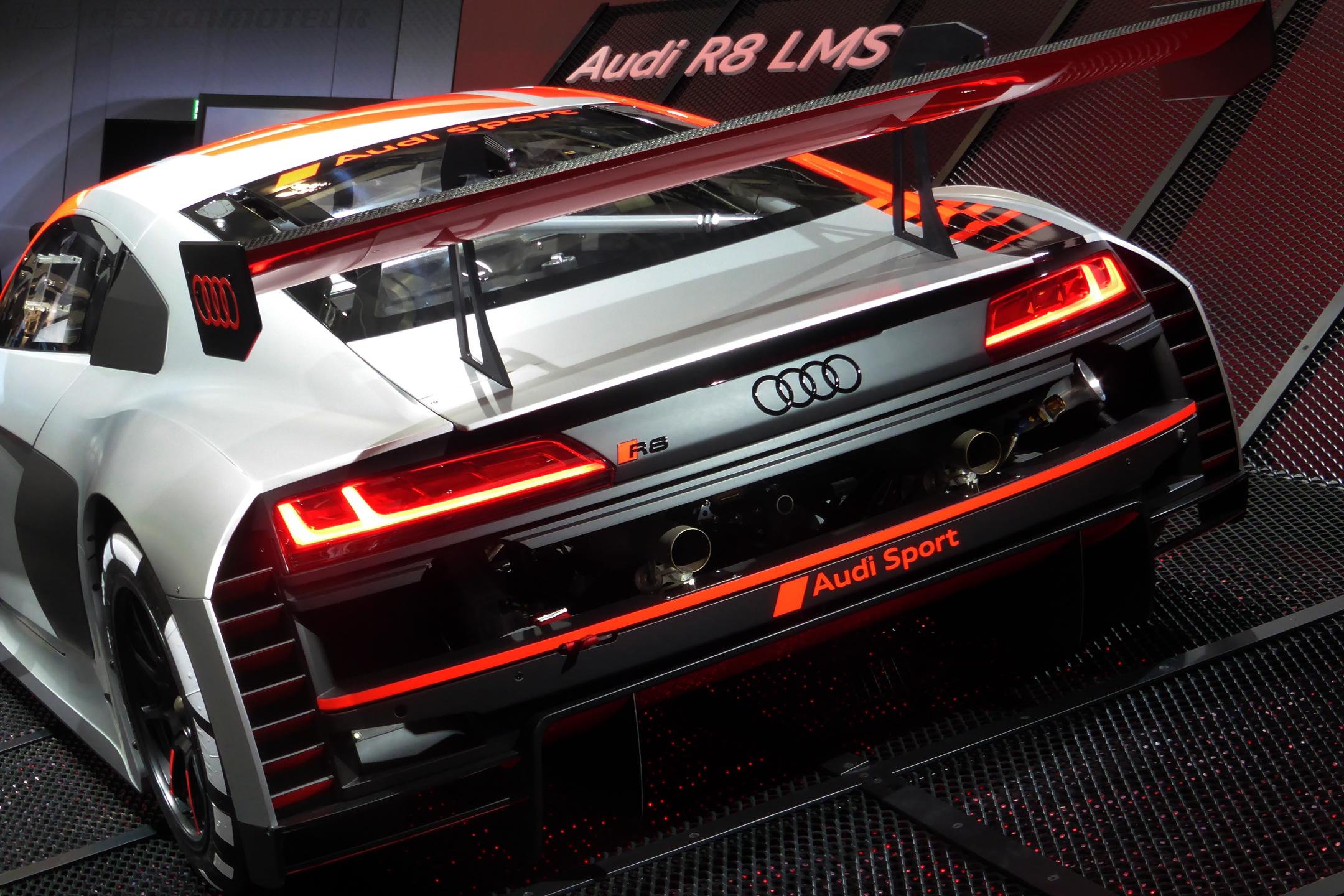 Audi Sport R8 LMS - rear face - Paris Motor Show - 2018 - Mondial Auto - photo ELJ DESIGNMOTEUR