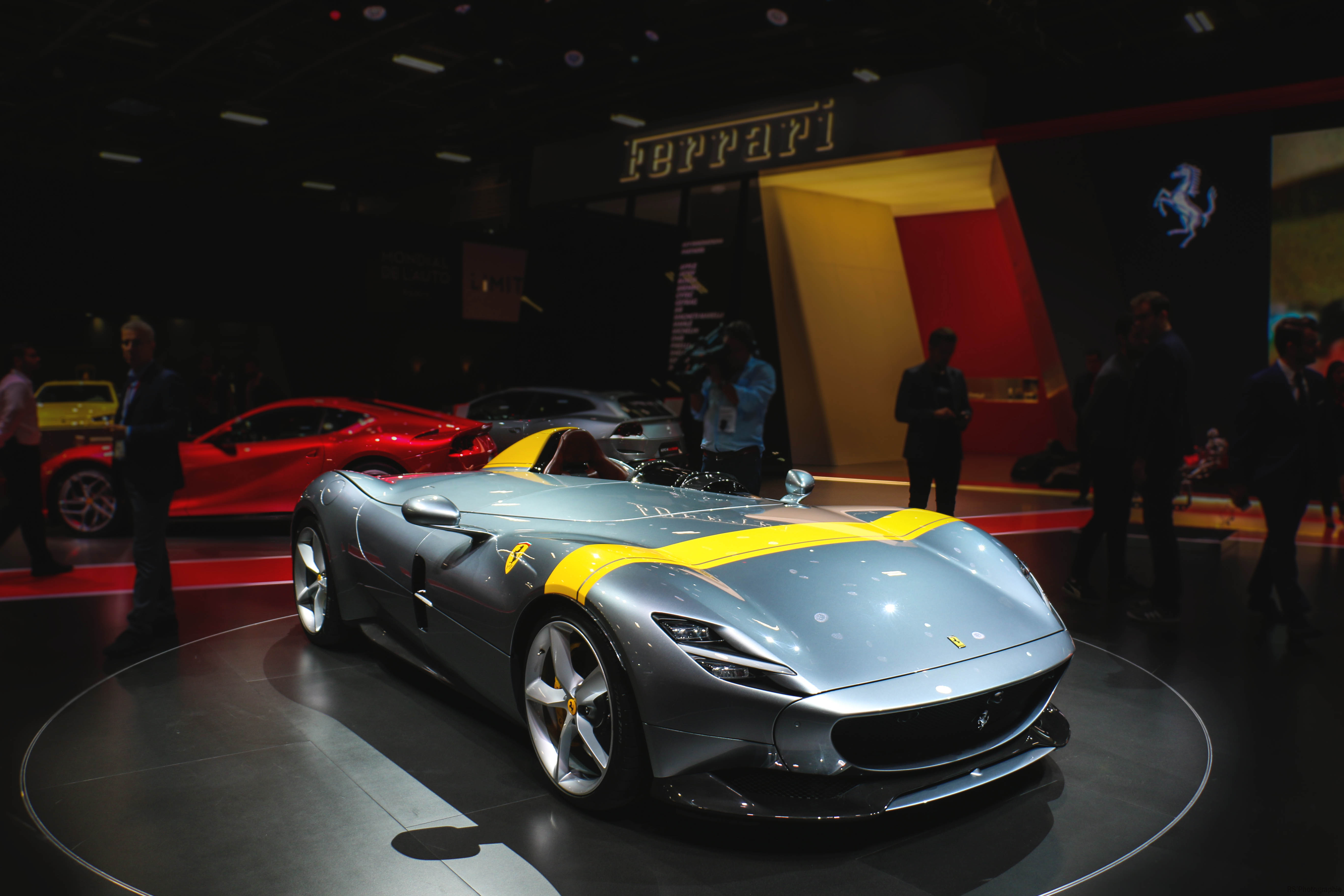 Ferrari Monza SP1 - front - Paris Motor Show - 2018 - Mondial Auto - photo by Arnaud Demasier RS Photographie