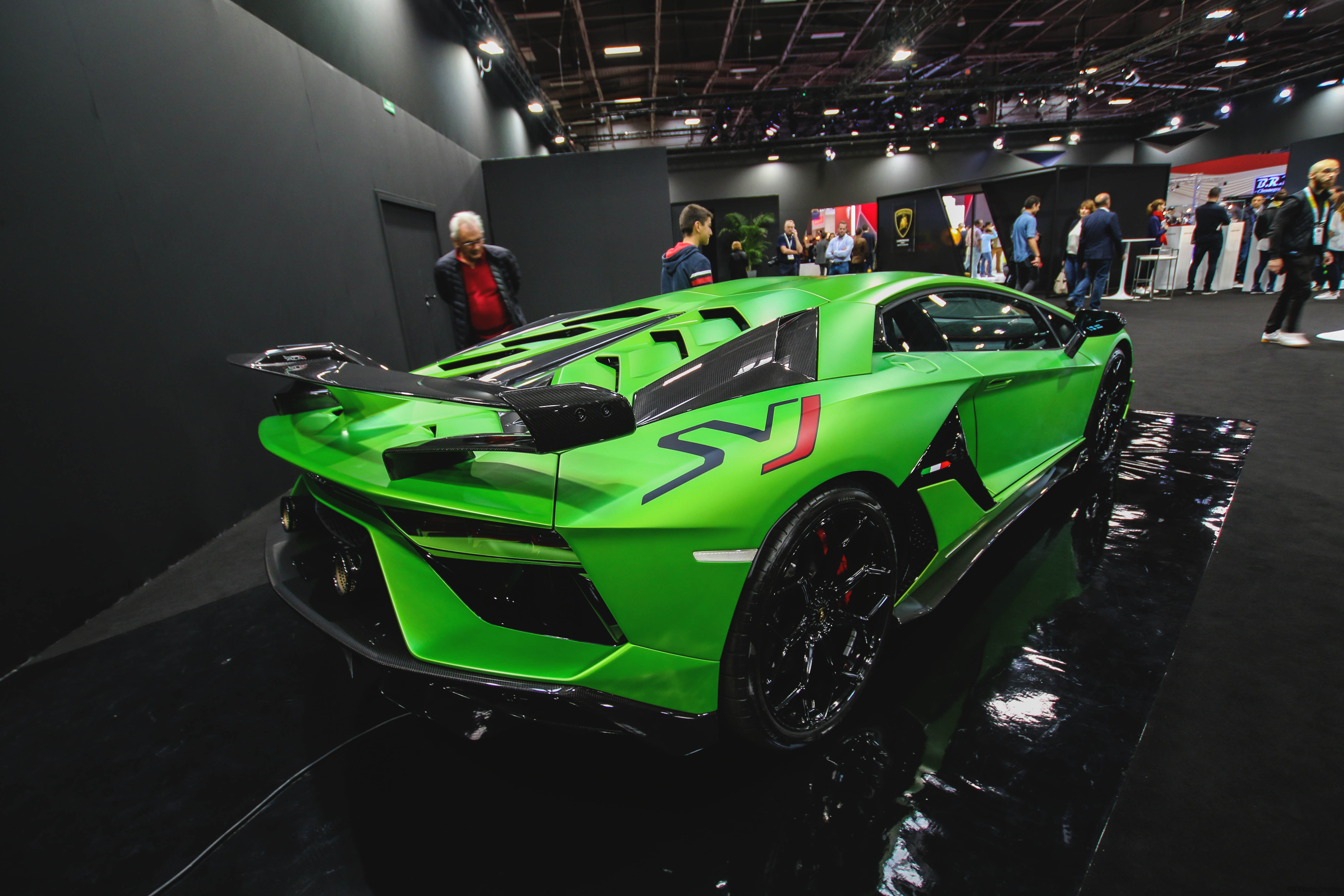 Lamborghini Aventador SVJ - rear top - Paris Motor Show - 2018 - Mondial Auto - photo by Arnaud Demasier RS Photographie