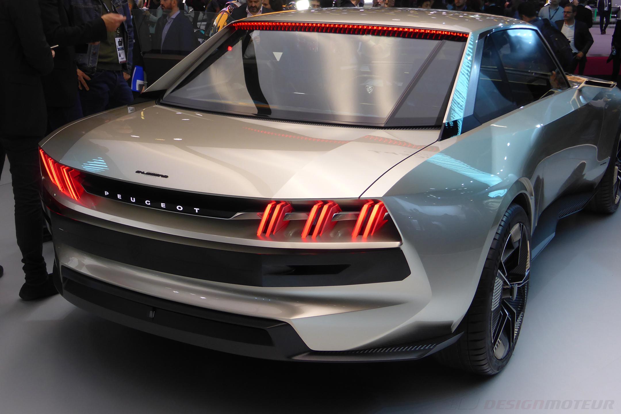 Peugeot eLegend Concept - rear - Paris Motor Show - 2018 - Mondial Auto - photo ELJ DESIGNMOTEUR