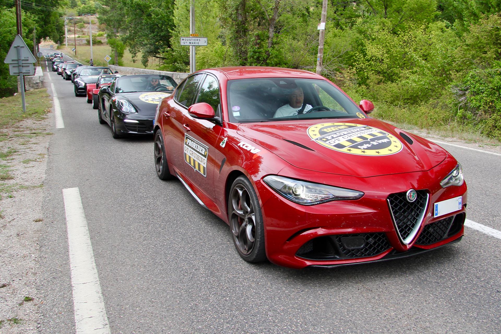 Alfa Romeo Giulia Quadrifoglio - sur la Route des Gorges du Verdon - Prorider GT Cruising - 2019 - photo Ludo Ferrari