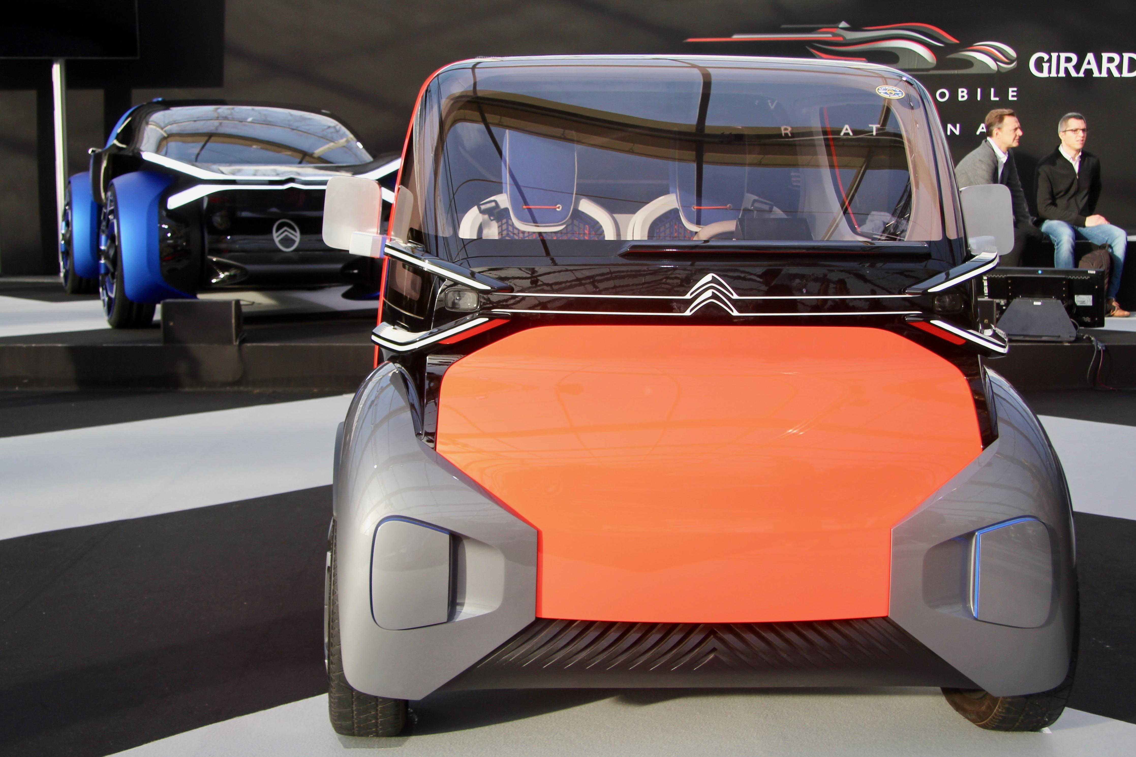 Citroën Ami One concept - front face / face avant - Festival Automobile International - 2020 - exposition Concept Cars - Design Automobile - photo Ludo Ferrari
