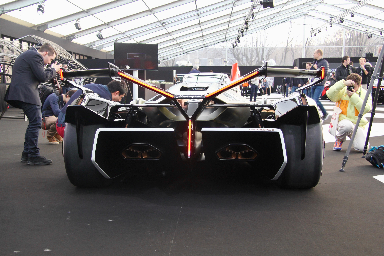 Lamborghini Lambo V12 Vision Gran Turismo - rear face / face arrière - Festival Automobile International - 2020 - exposition Concept Cars - Design Automobile - photo Ludo Ferrari