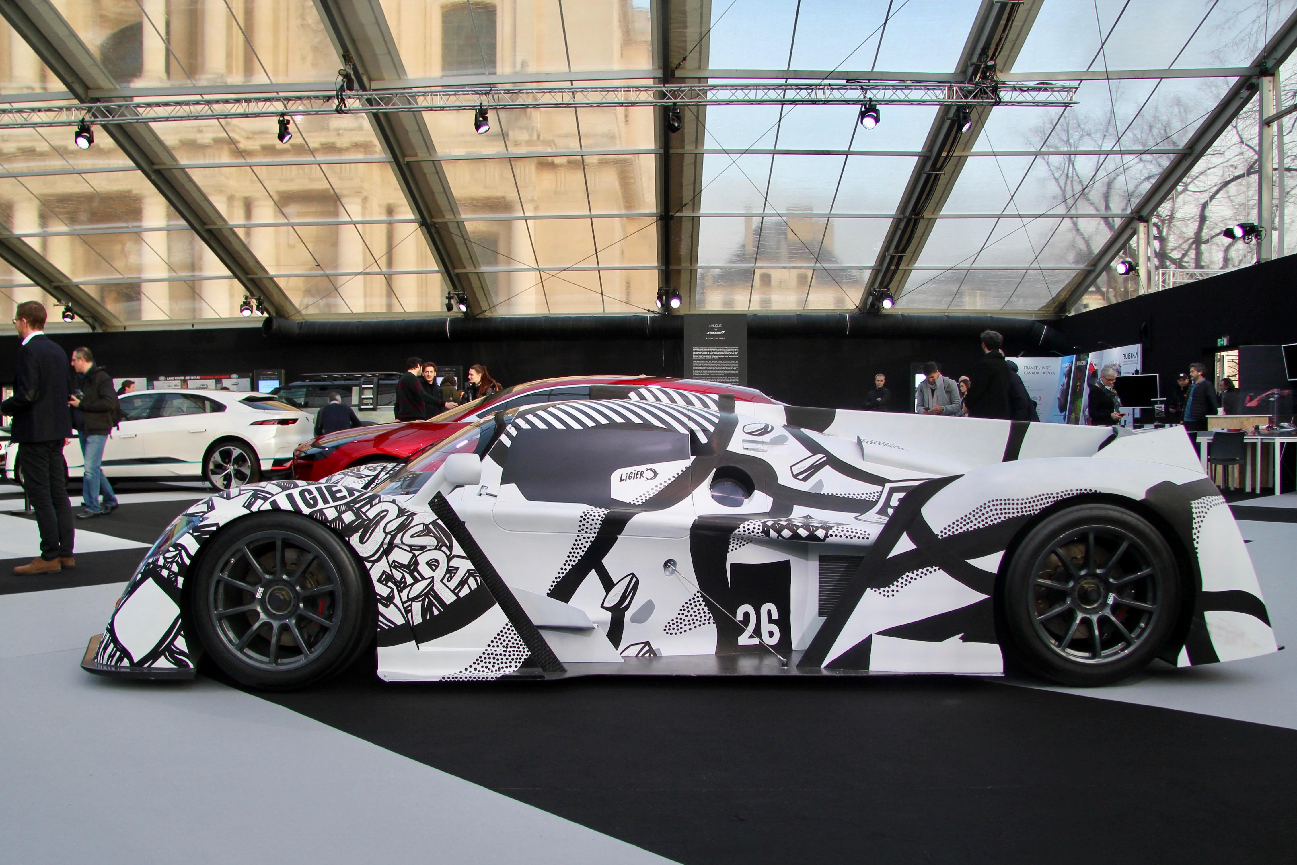 Ligier Automotive JS P4 - art car - Nairone Defives - side-face - Festival Automobile International - 2020 - exposition Concept Cars - Design Automobile - photo Ludo Ferrari
