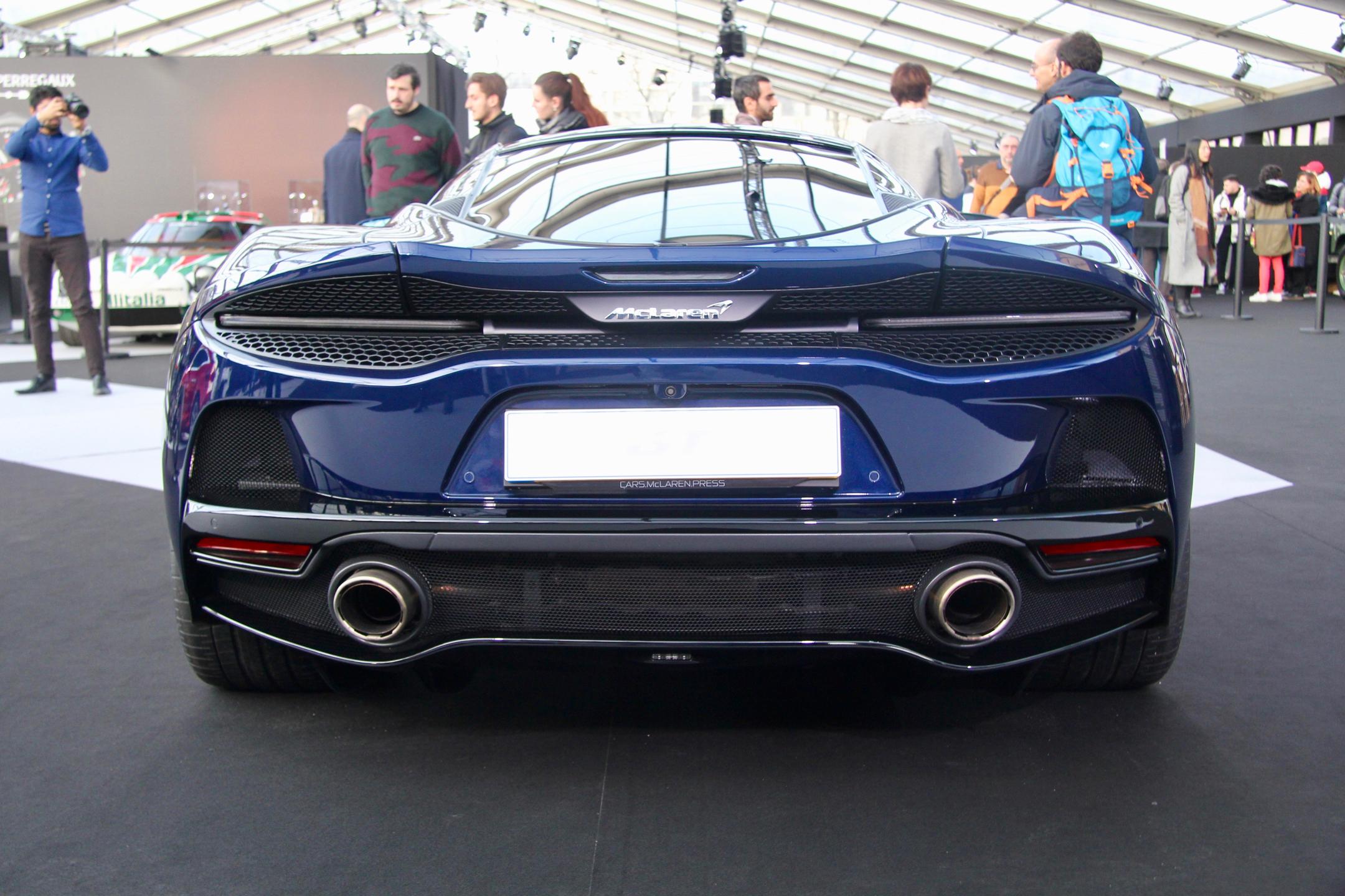 McLaren GT - rear face / face arrière - Festival Automobile International - 2020 - exposition Concept Cars - Design Automobile - photo Ludo Ferrari