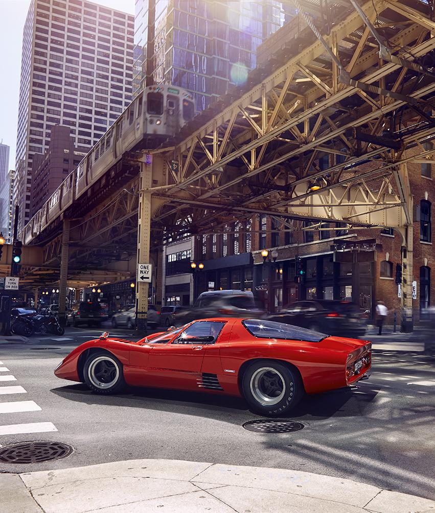 McLaren M6GT - 1968 - rear side view - 2020 - photo via McLaren Chicago