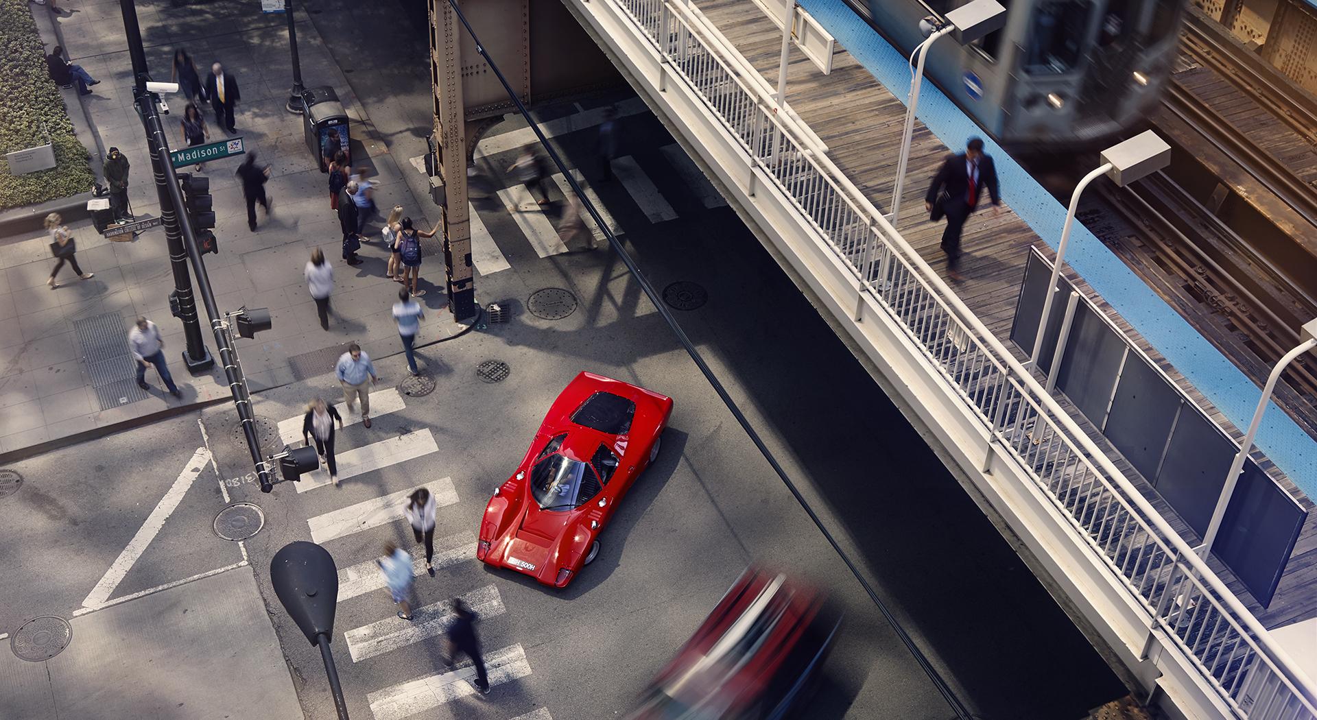 McLaren M6GT - 1968 - top view - 2020 - photo via McLaren Chicago