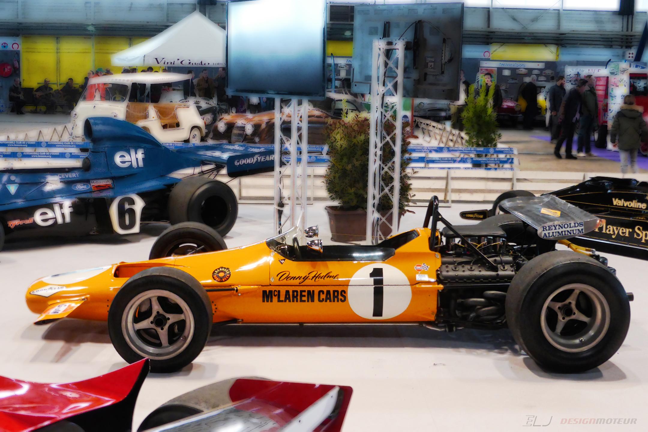 McLaren M7A – 1968 – F1 – side-face view – Ouest Motors Festival 2018 – photo ELJ DESIGNMOTEUR