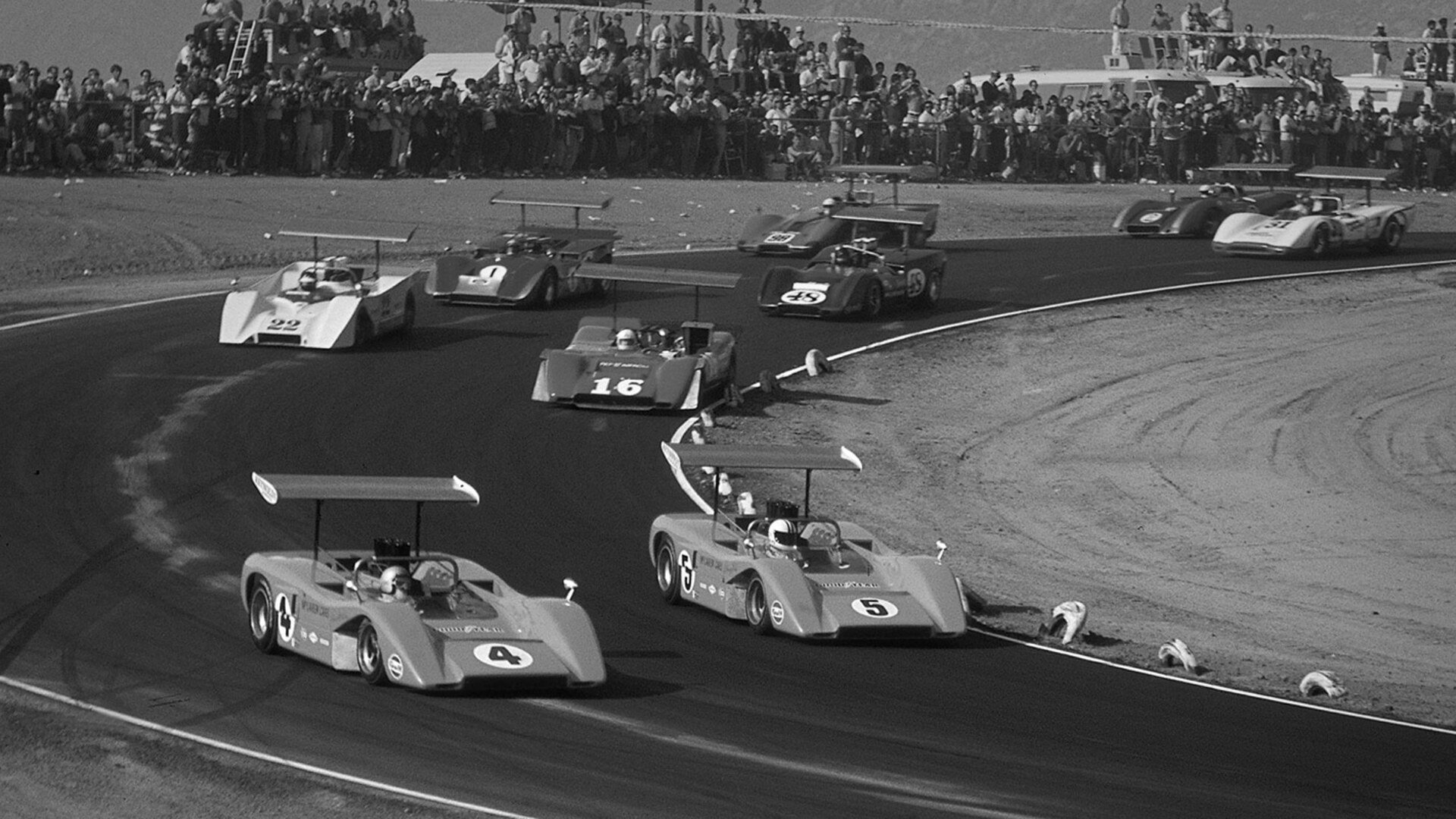 McLaren racing - 1965s - the Bruce and Denny show - photo via McLaren Automotive