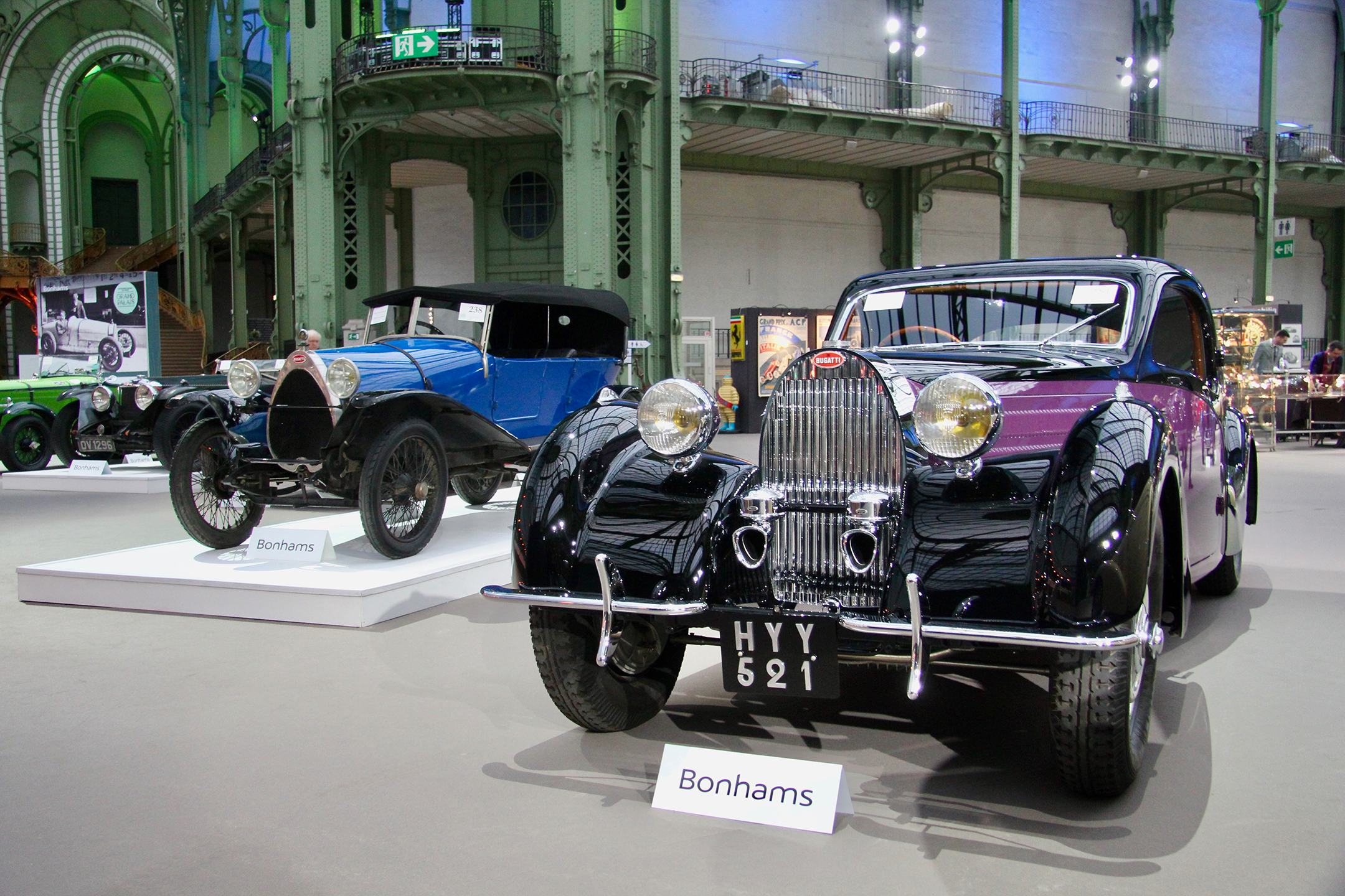 Bugatti Type 57 Atalante Coupé - 1938 - Les Grandes Marques du Monde au Grand Palais - Bonhams - 2020 - photo Ludo Ferrari