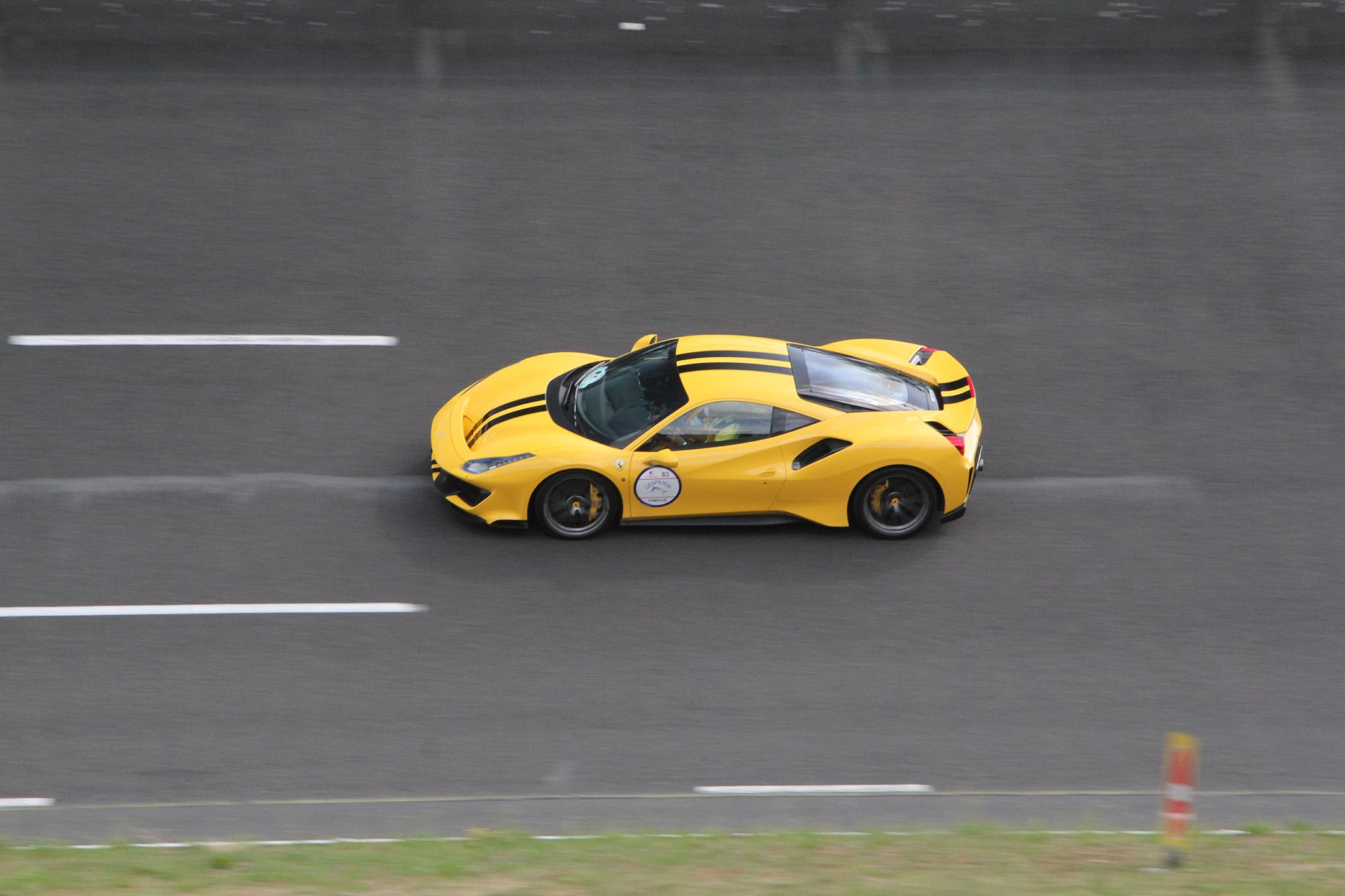 Ferrari 488 Pista - UTAC CERAM - Rallye du Coeur 2020 - photo Ludo Ferrari