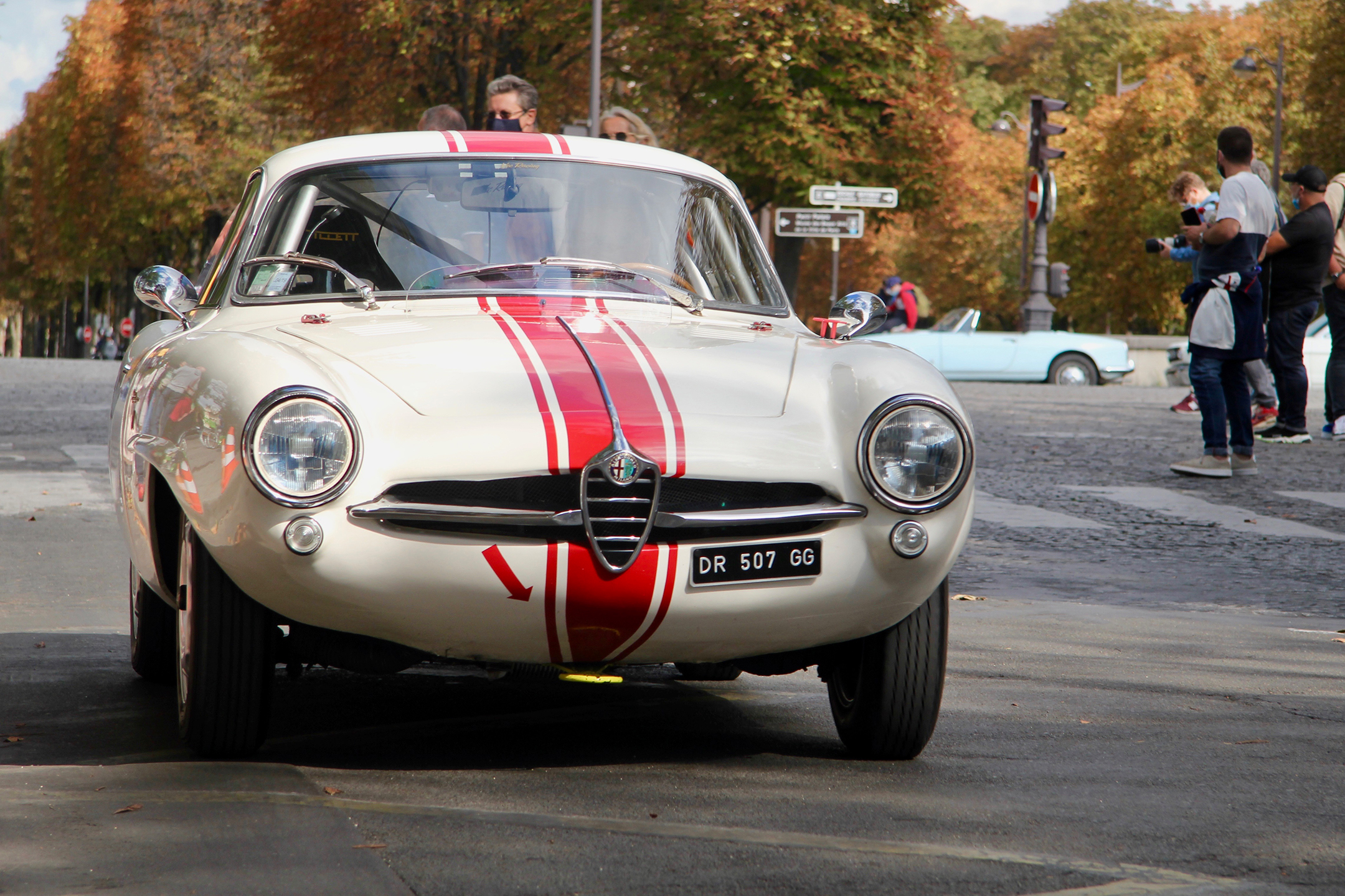 Alfa Romeo Giulia Sprint Speciale Bertone - road to - Grand Palais - Paris - Tour Auto 2020 - photo Ludo Ferrari