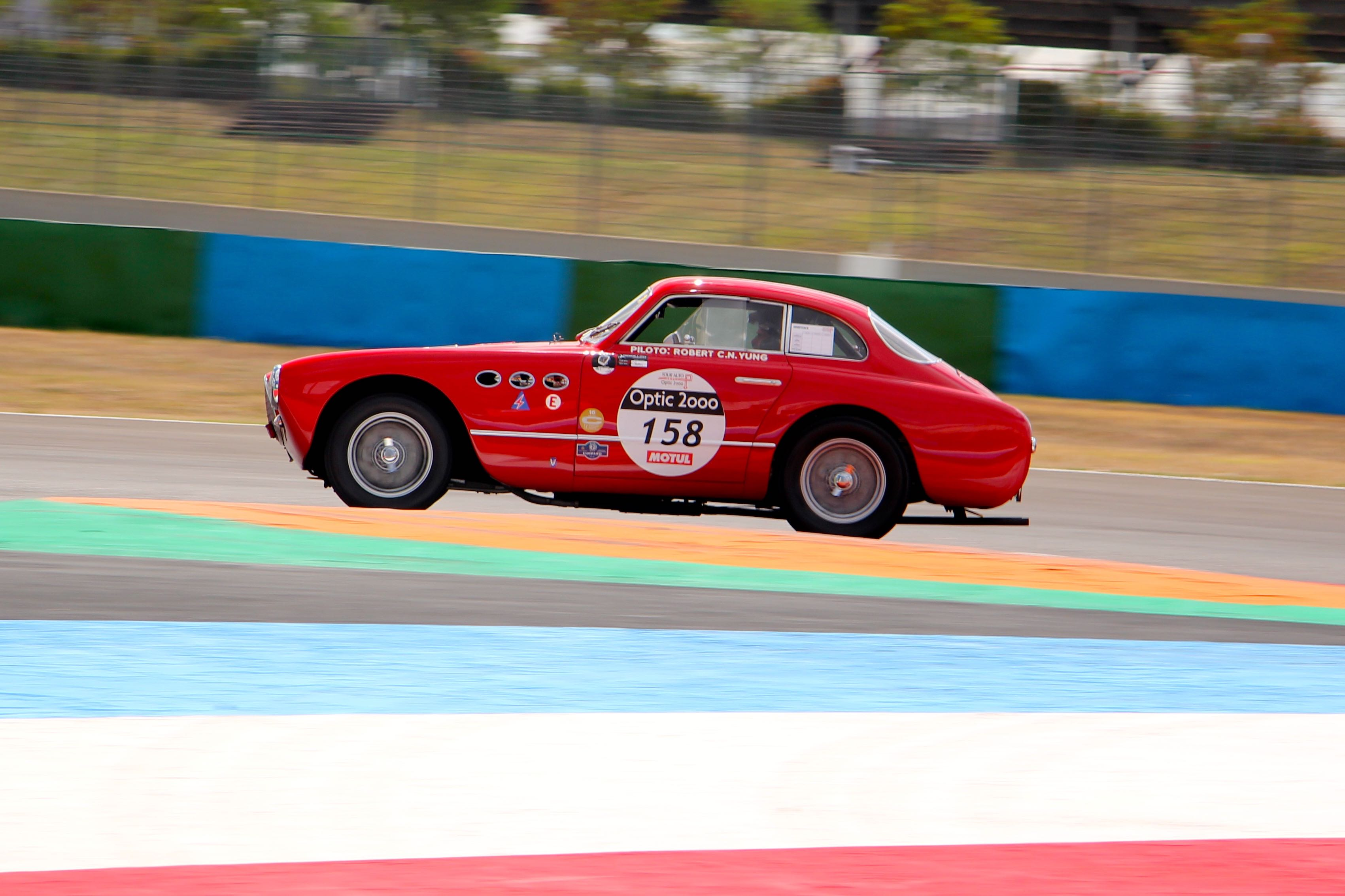 Ferrari 225S Vignale Berlinetta - circuit de Nevers Magny-Cours - Tour Auto 2020 - photo Ludo Ferrari