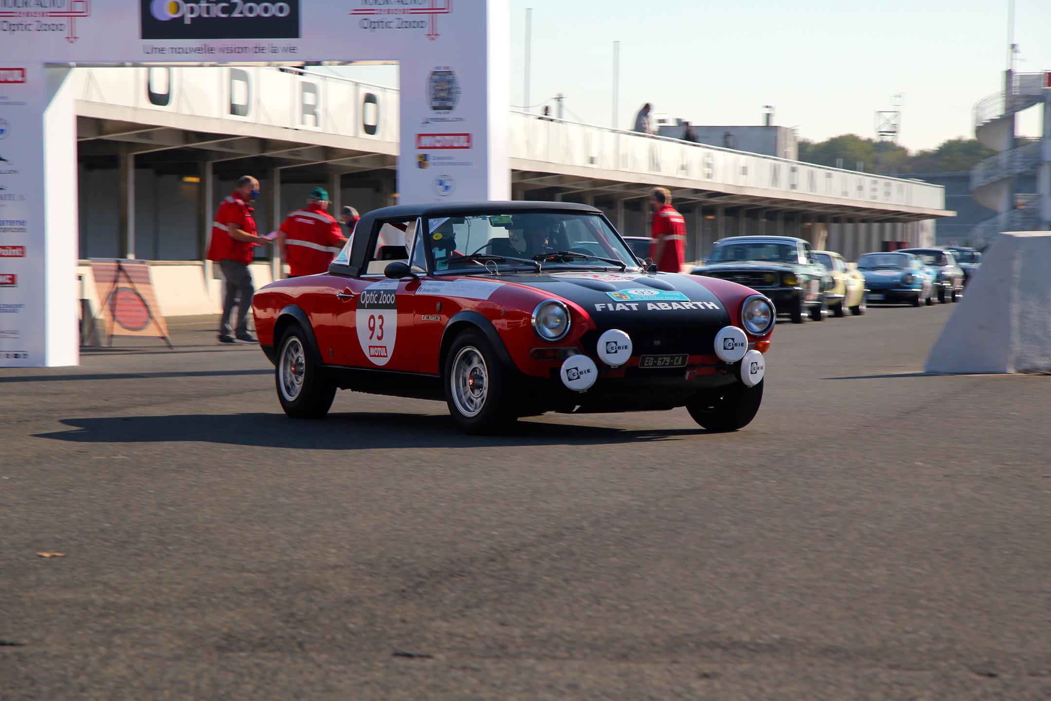 Fiat 124 Abarth 1973 - Autodrome de Linas-Monthléry - Tour Auto 2020 - photo Ludo Ferrari