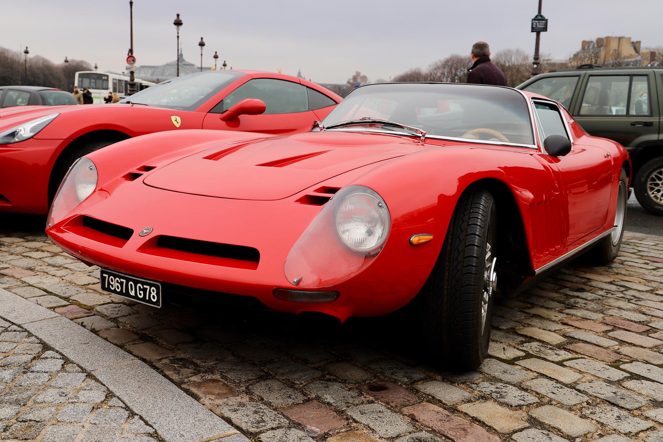 Bizzarrini GT America - Traversée de Paris Hivernale - 2021 - photo Ludo Ferrari