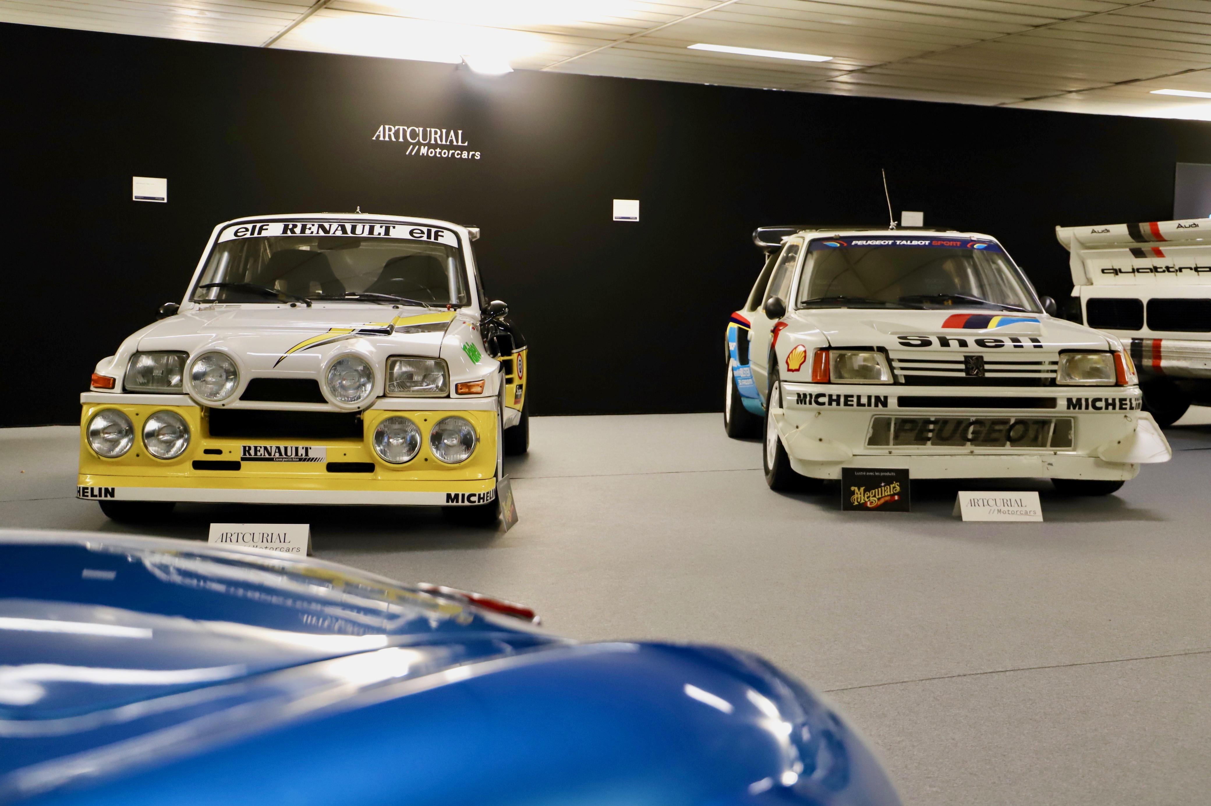 Renault 5 Maxi Turbo 1985 -vs- Peugeot 205 Turbo 16 Evolution 2 1985 - La Parisienne 2021 - Motorcars Artcurial - photo Ludo Ferrari