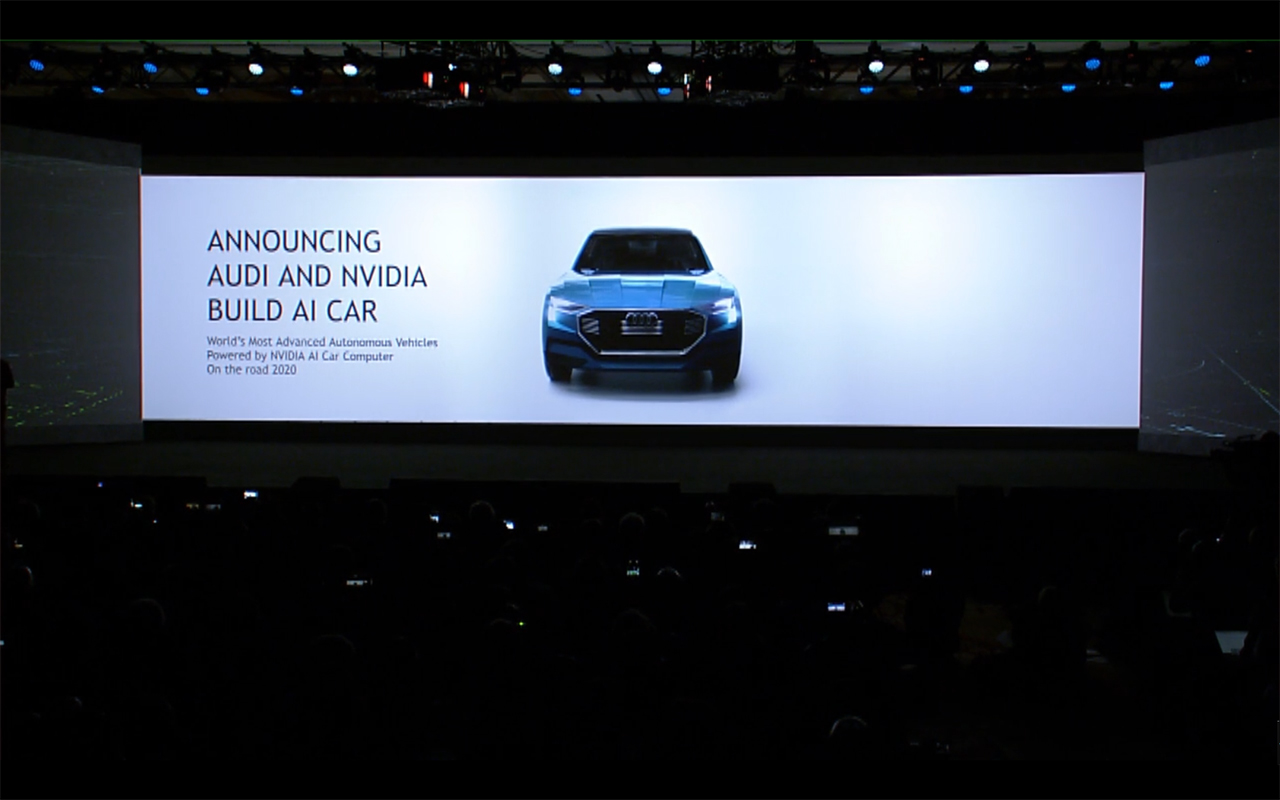 NVIDIA keynote CES 2017 - Audi build AI Cars