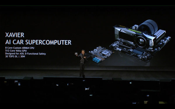 NVIDIA keynote CES 2017 - AI Car supercomputer