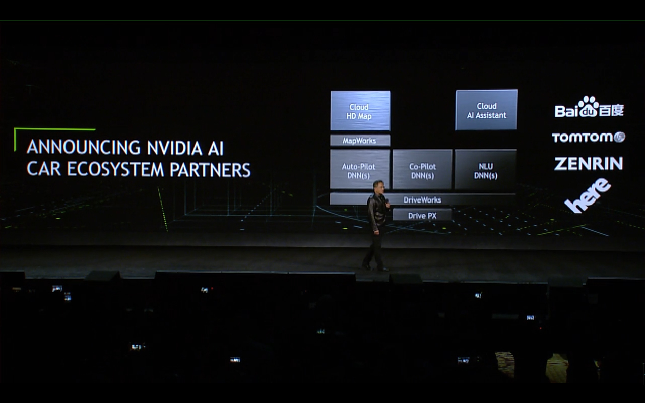NVIDIA keynote CES 2017 - AI Car Partners