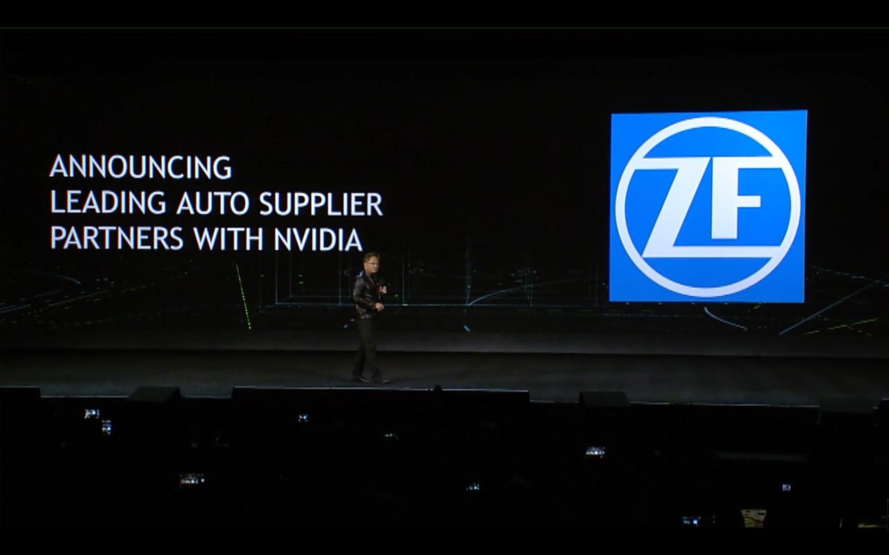 NVIDIA keynote CES 2017 - partner ZF
