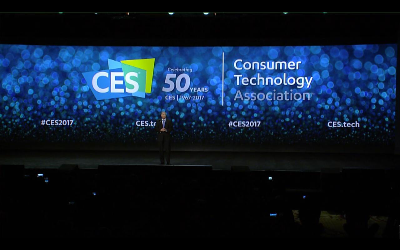 NVIDIA keynote CES 2017 start