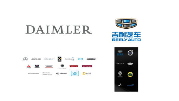 Daimler - Geely - 2018 - group logotypes cover
