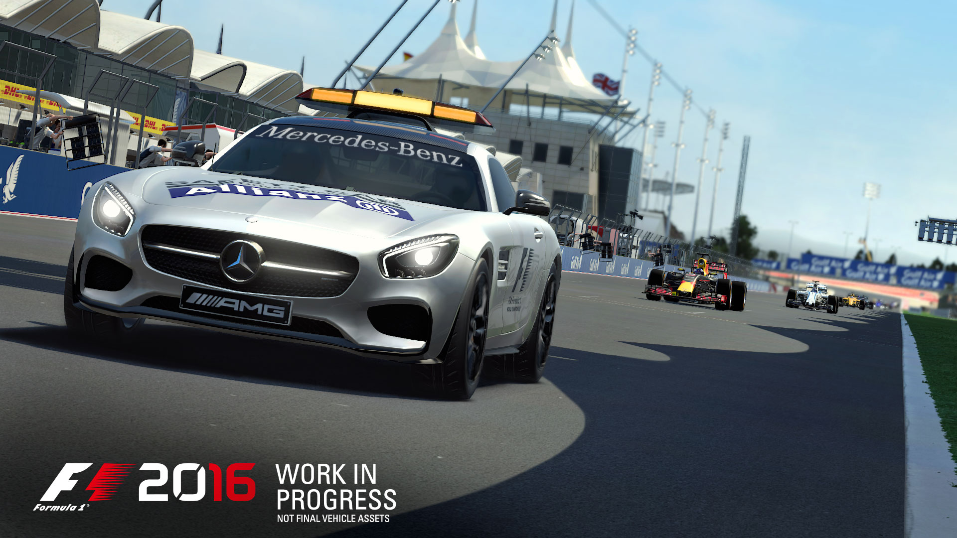 F1 2016 - game screen - AMG safety-car