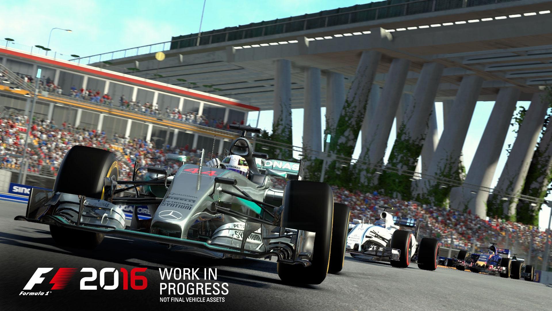F1 2016 - game screen - Mercedes-AMG