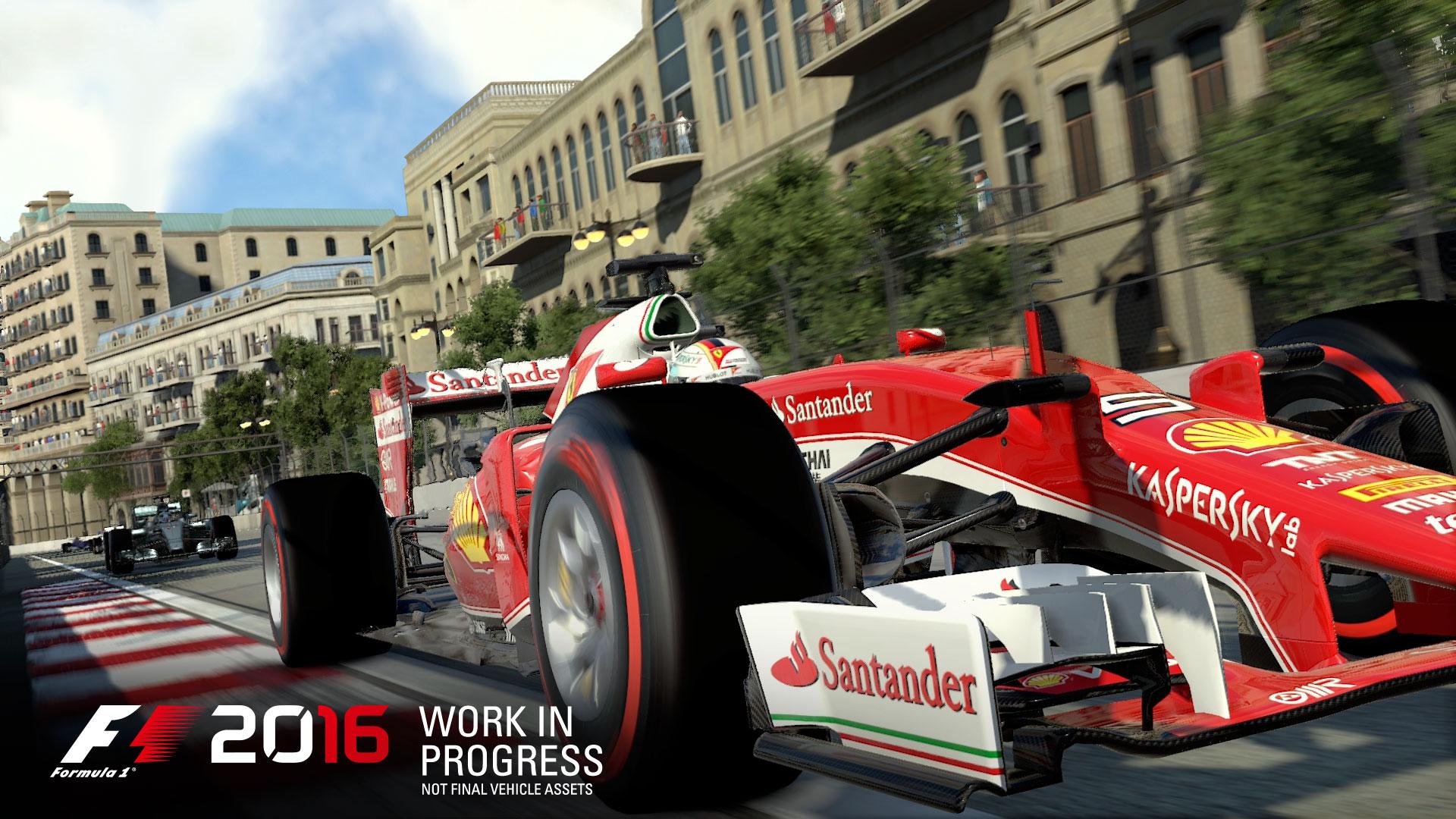 F1 2016 - game screen - Scuderia Ferrari