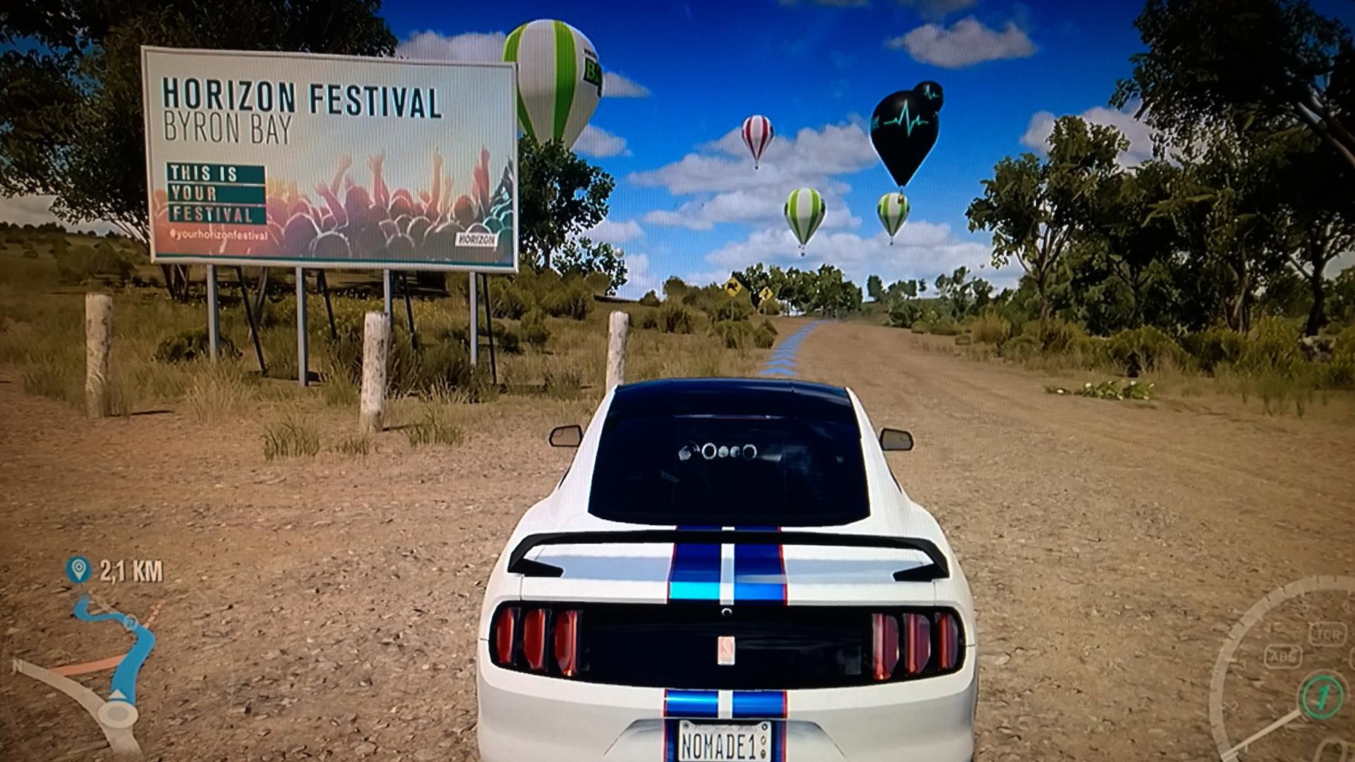 Forza Horizon 3 - demo - screen - sign Horizon Festival