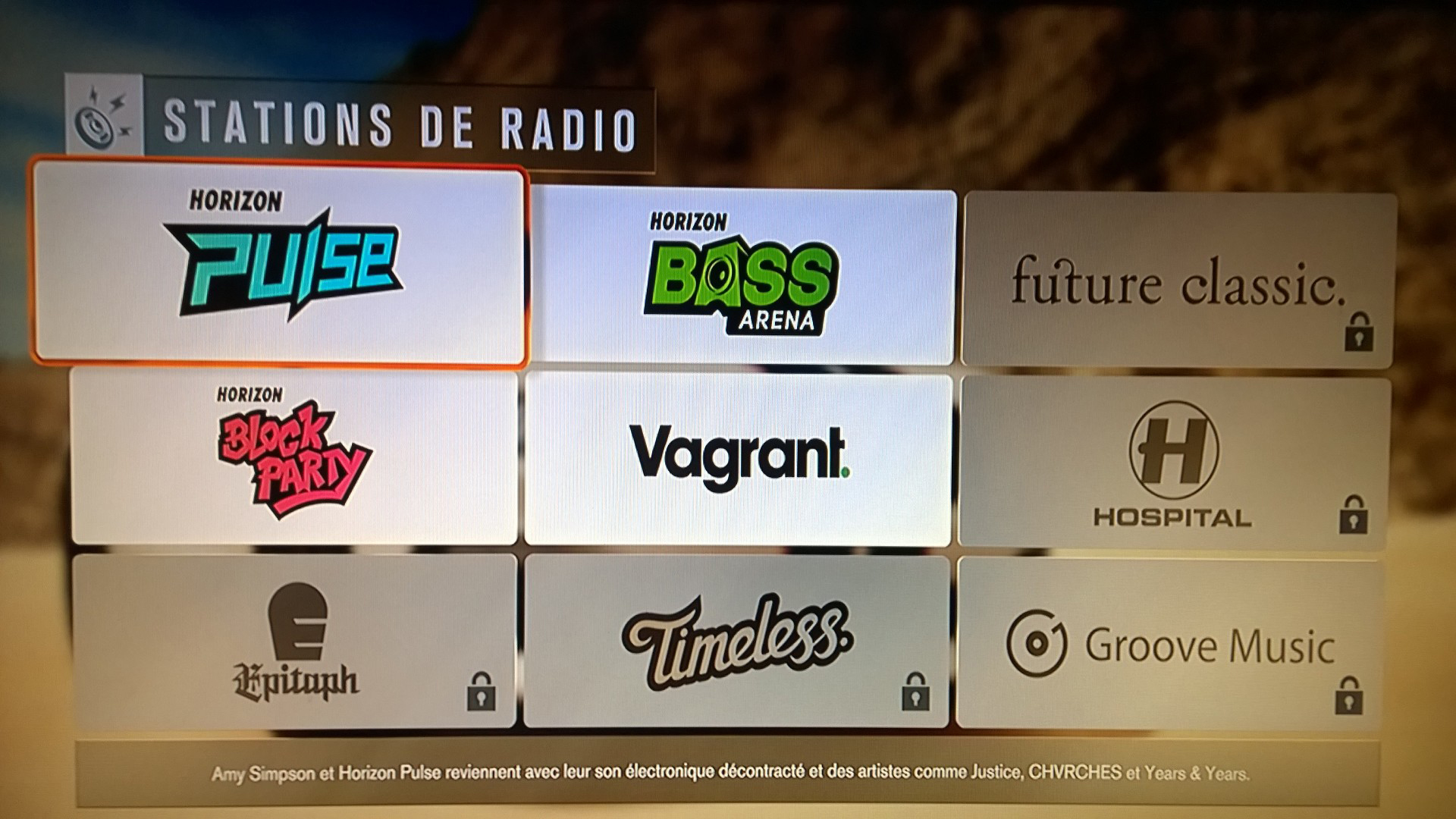 Forza Horizon 3 - demo - screen - music radio