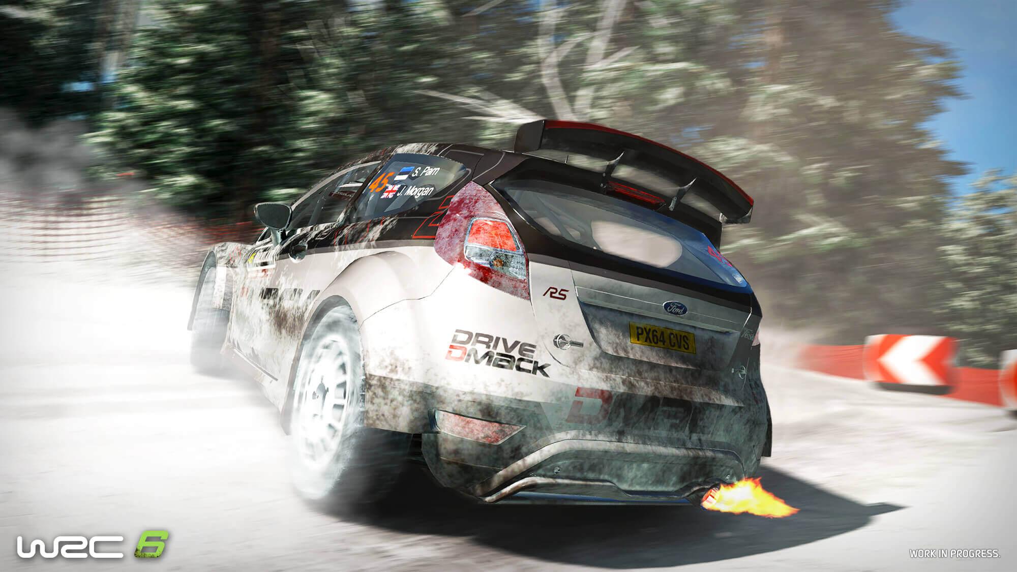 WRC6 - screen Ford - rear  / arrière