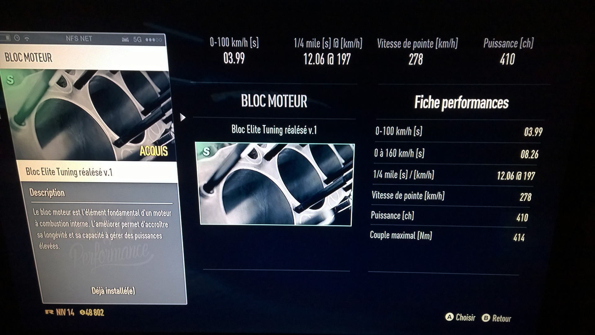 Need for Speed - screen photo - BRZ amélioration bloc moteur / performance parts: engine