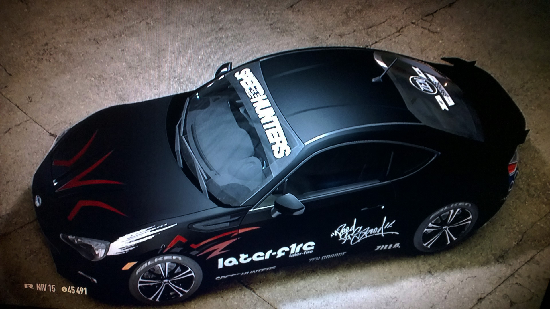 Need for Speed - screen photo - BRZ - custom by nomadelj - NFS car - toit / top