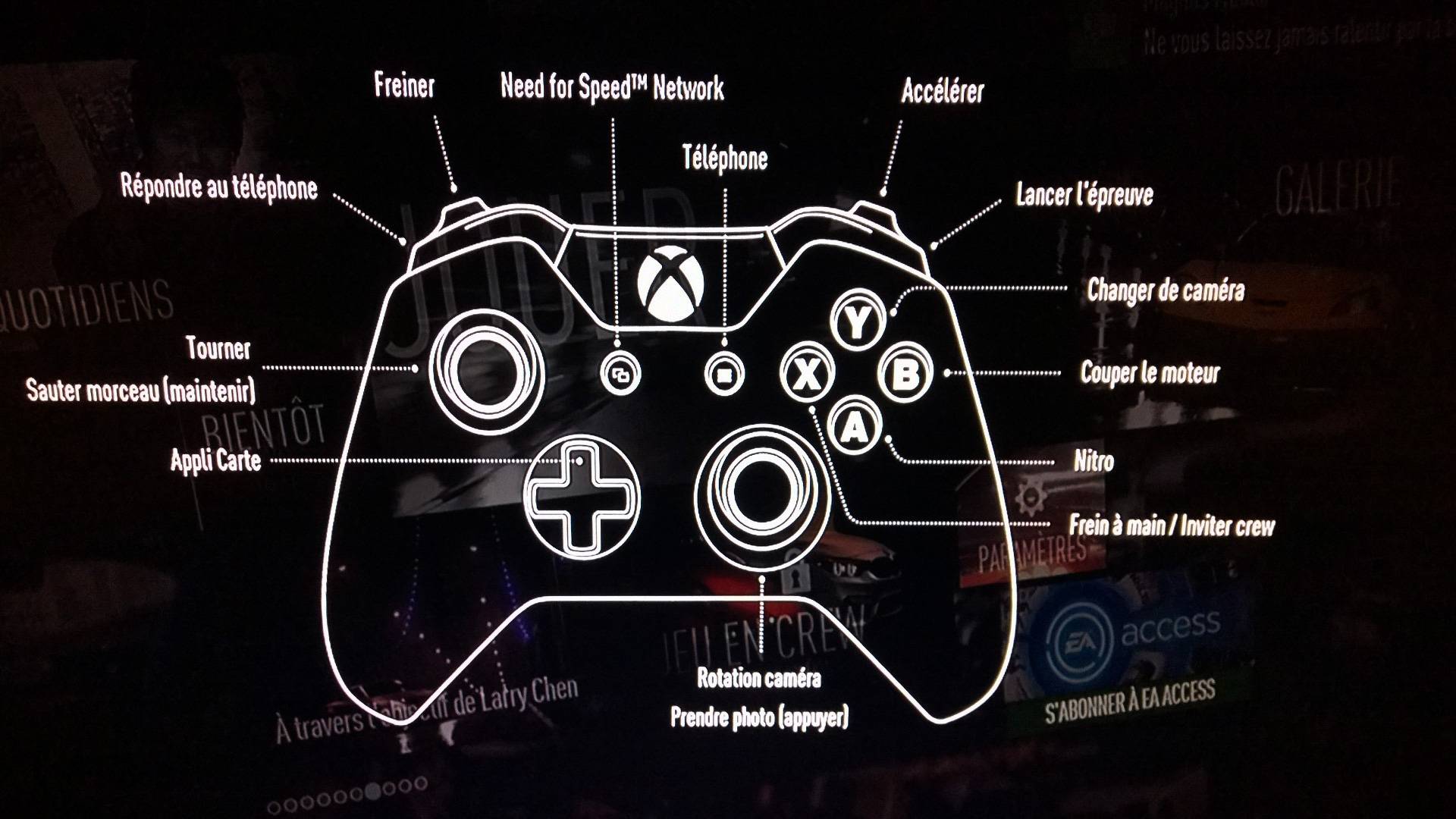 Need for Speed - screen photo - Xbox one - Pad - FR