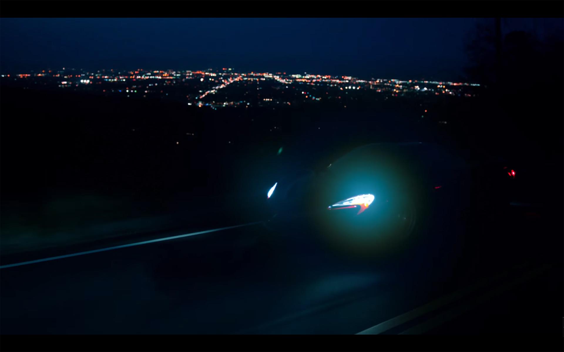 Starboy - The Weeknd - McLaren P1 - driving roads hills - front lights
