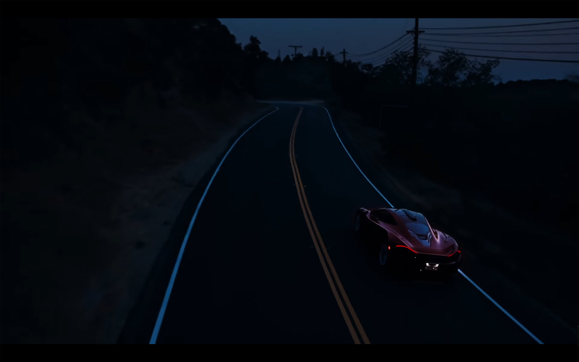 Starboy - The Weeknd - McLaren P1 - to start go up hills via the twisties roads of Mulholland Drive